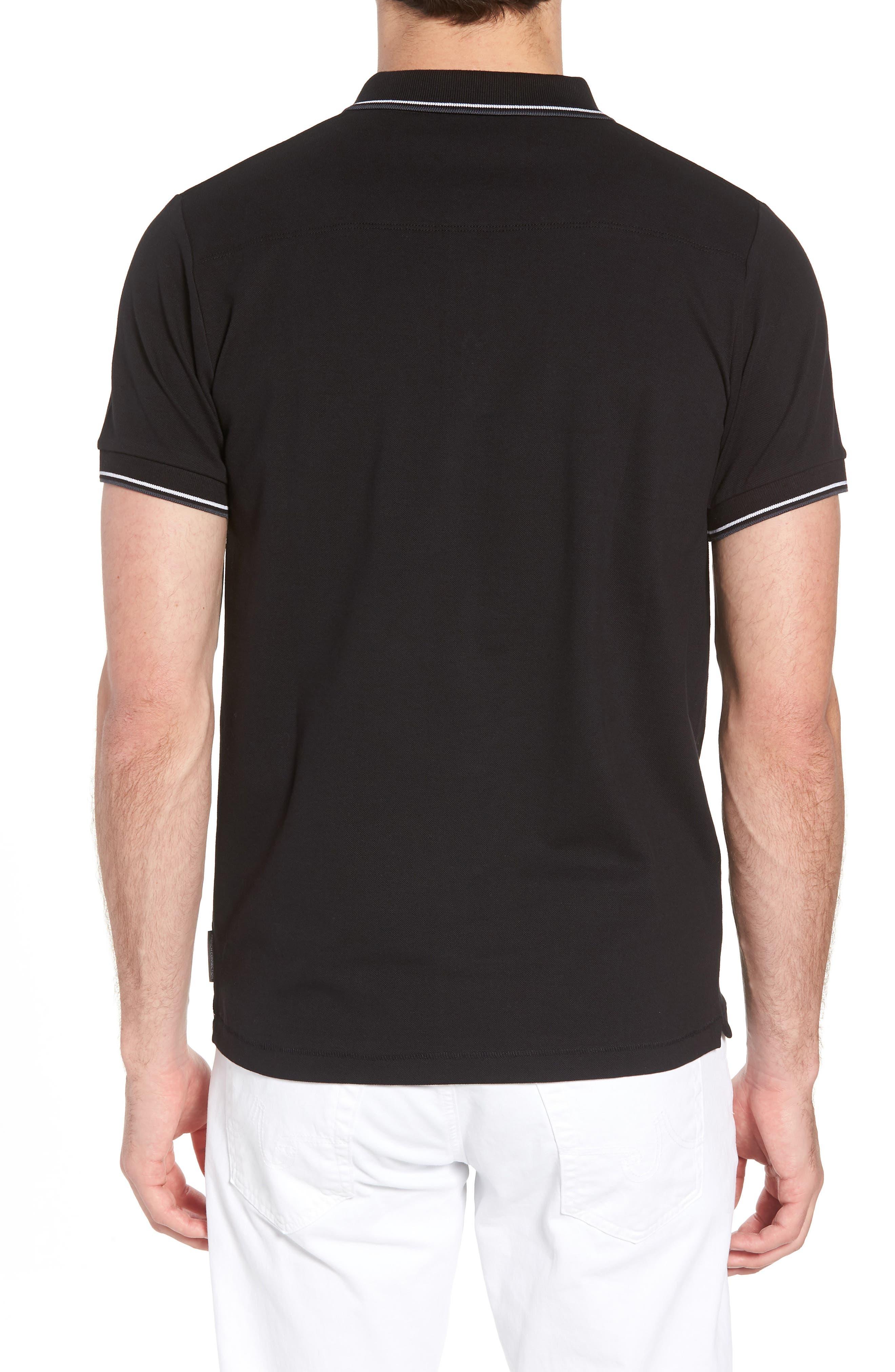 Cotton Polo Shirt,                             Alternate thumbnail 2, color,                             BLACK