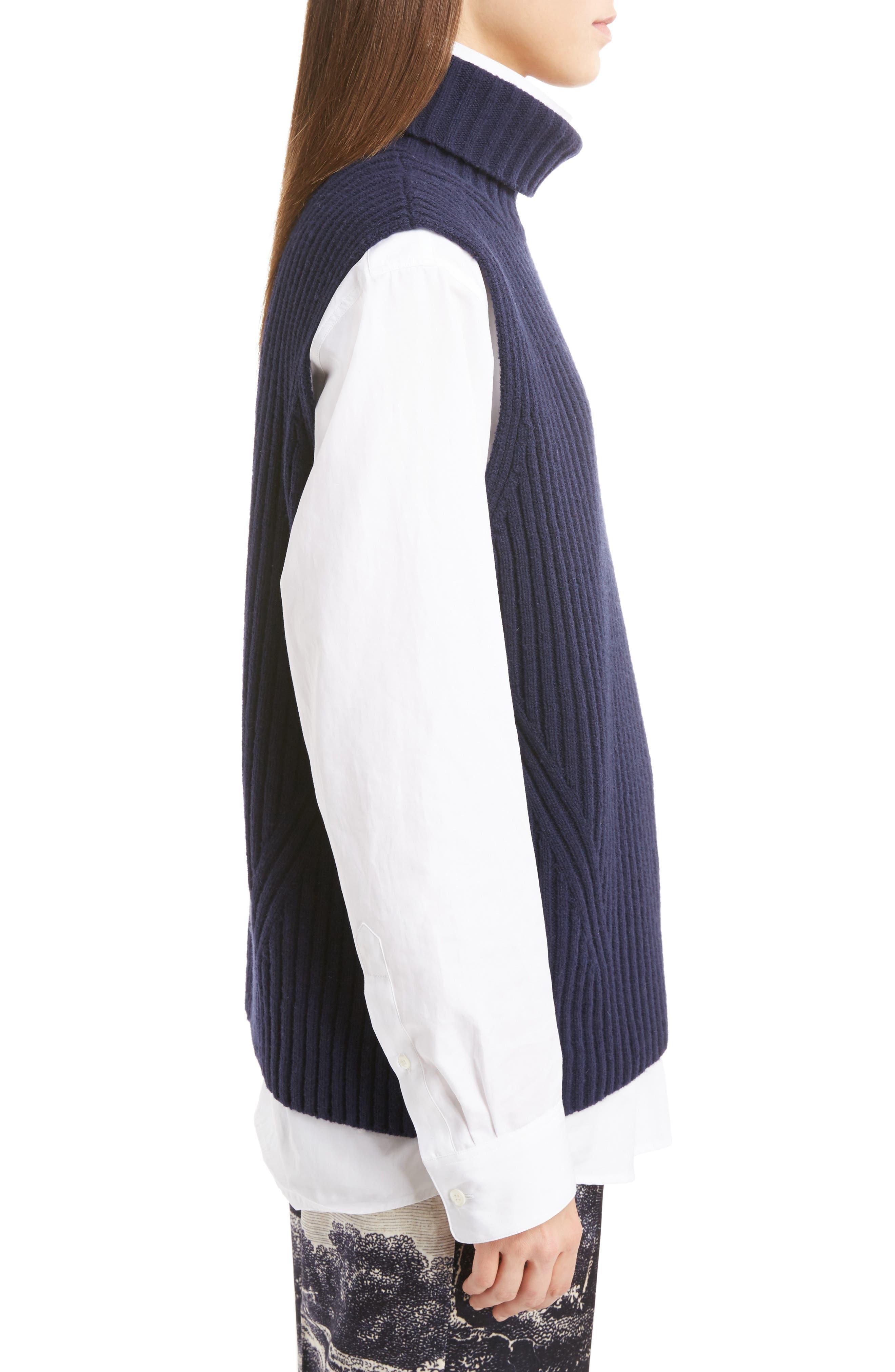 Sleeveless Turtleneck Sweater,                             Alternate thumbnail 3, color,                             410