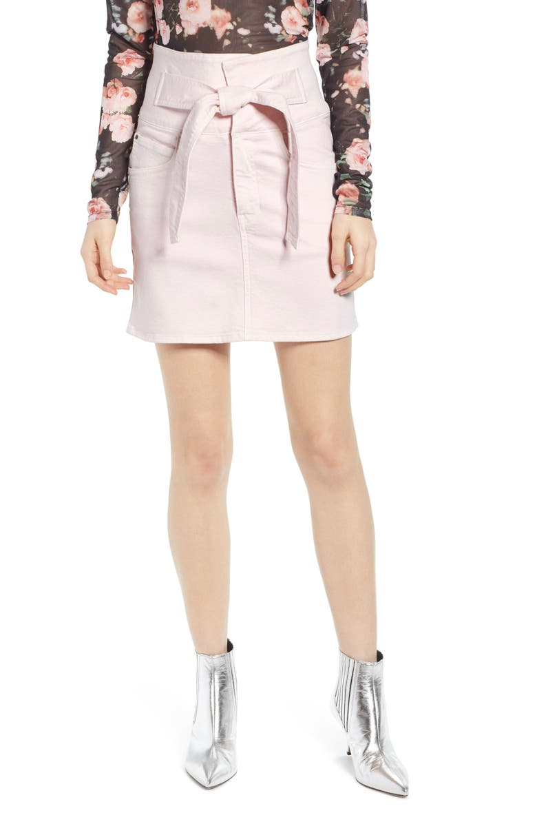 REBECCA MINKOFF Callie Skirt, Main, color, LIGHT PINK