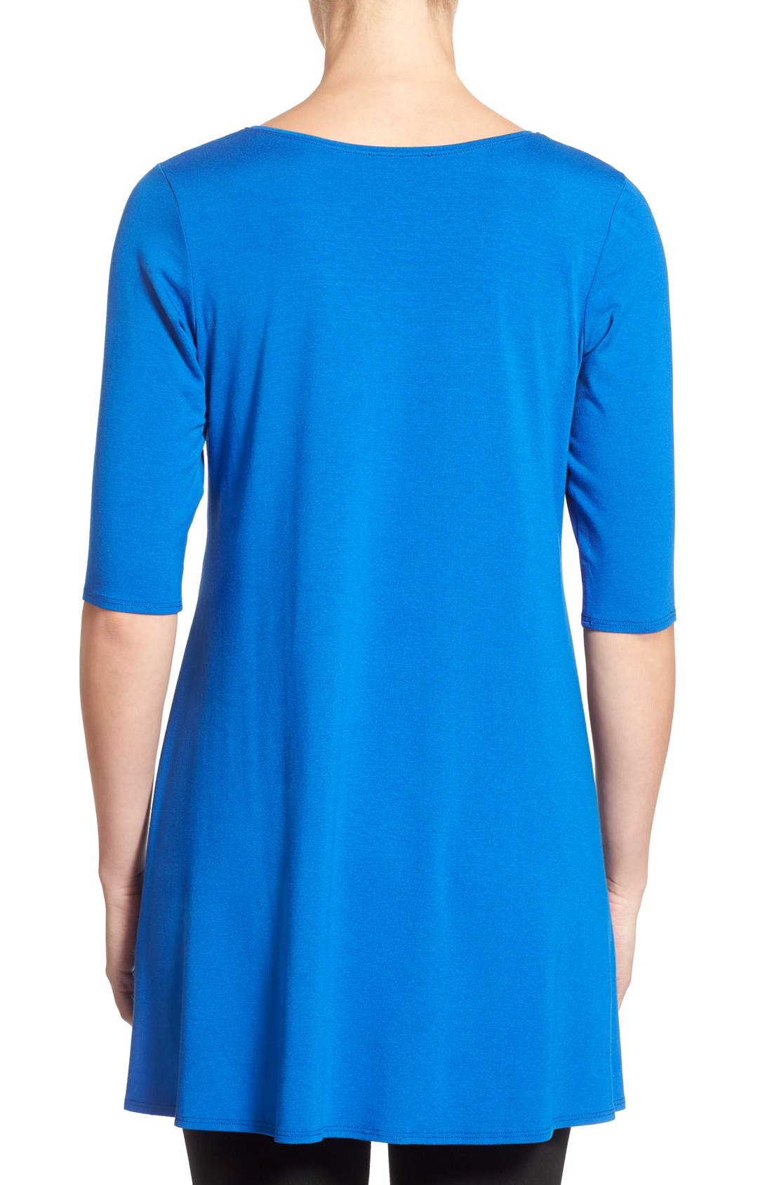 Scoop Neck Elbow Sleeve Jersey Tunic,                             Alternate thumbnail 57, color,