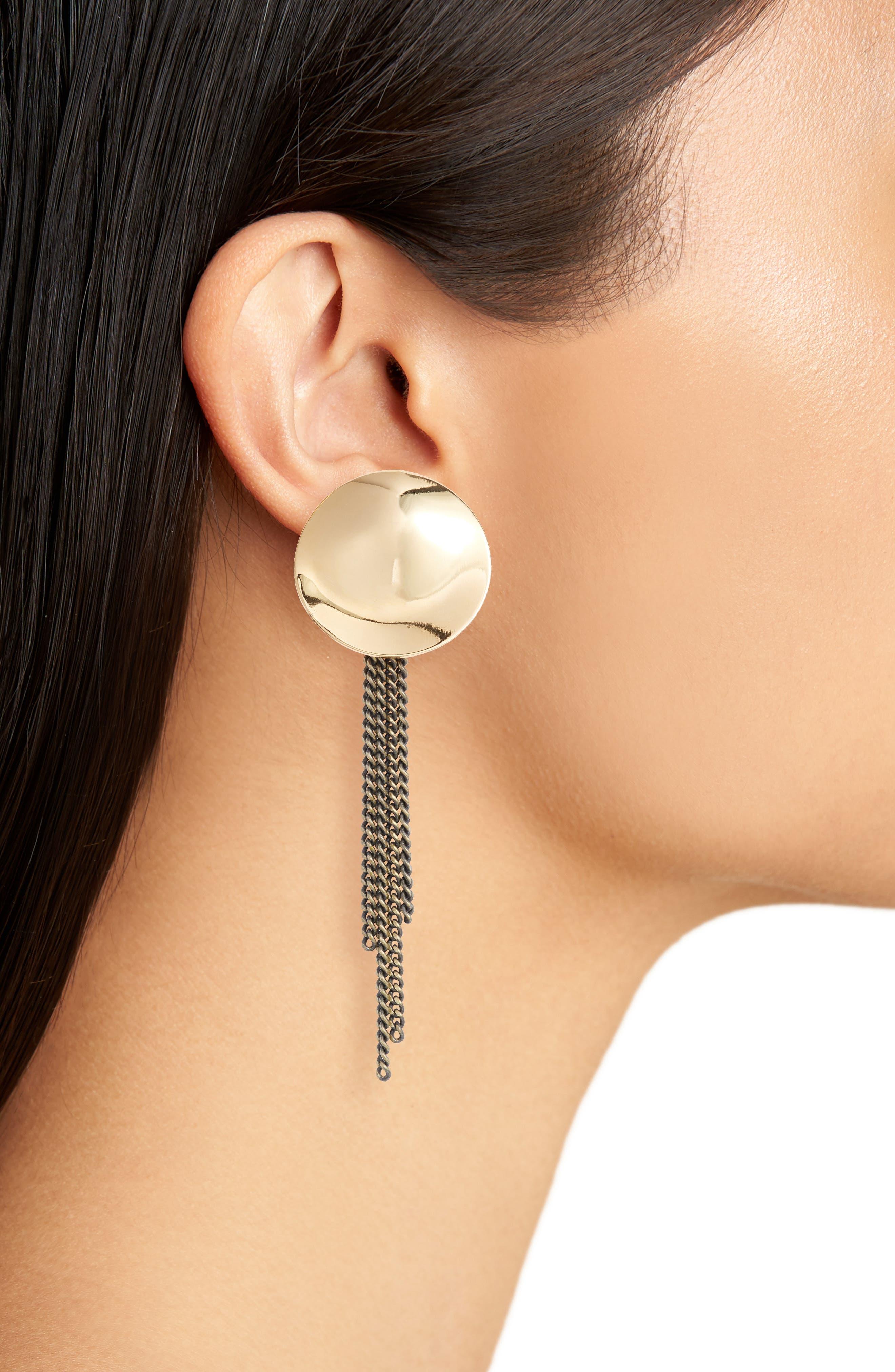 Penny Moon Duster Earrings,                             Alternate thumbnail 4, color,