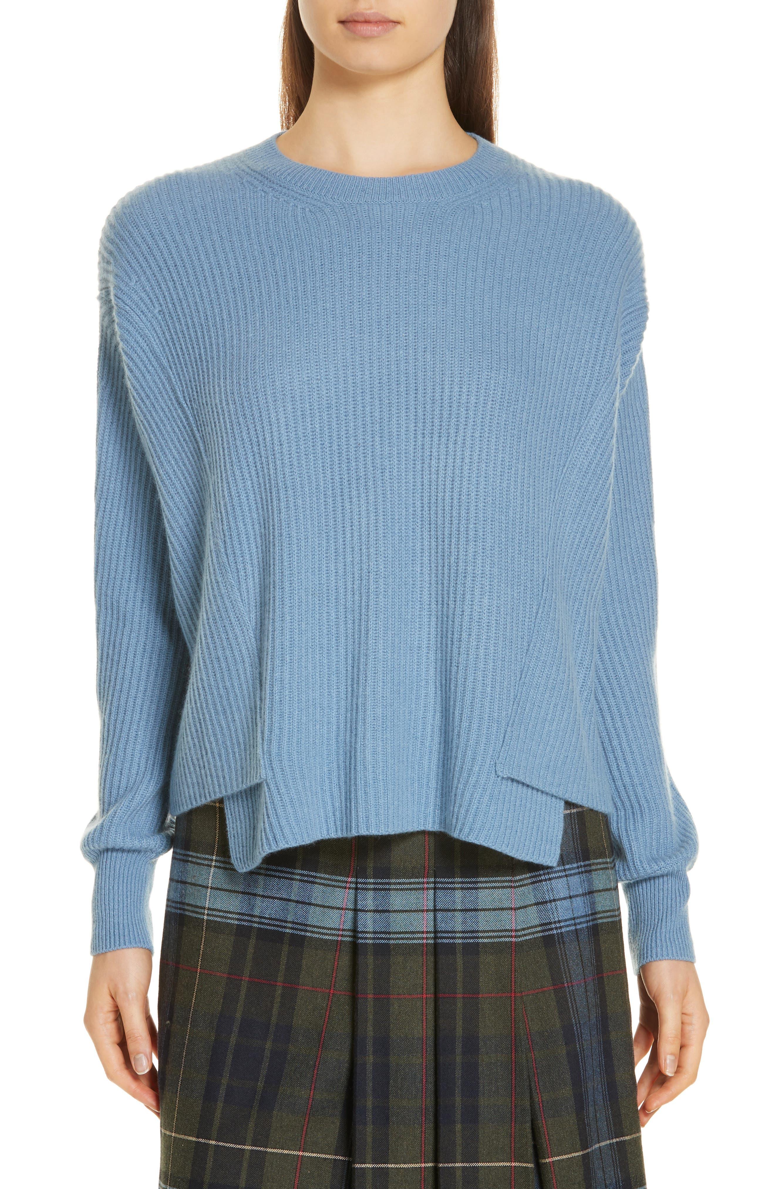 Rib Knit Cashmere Sweater,                         Main,                         color, 420
