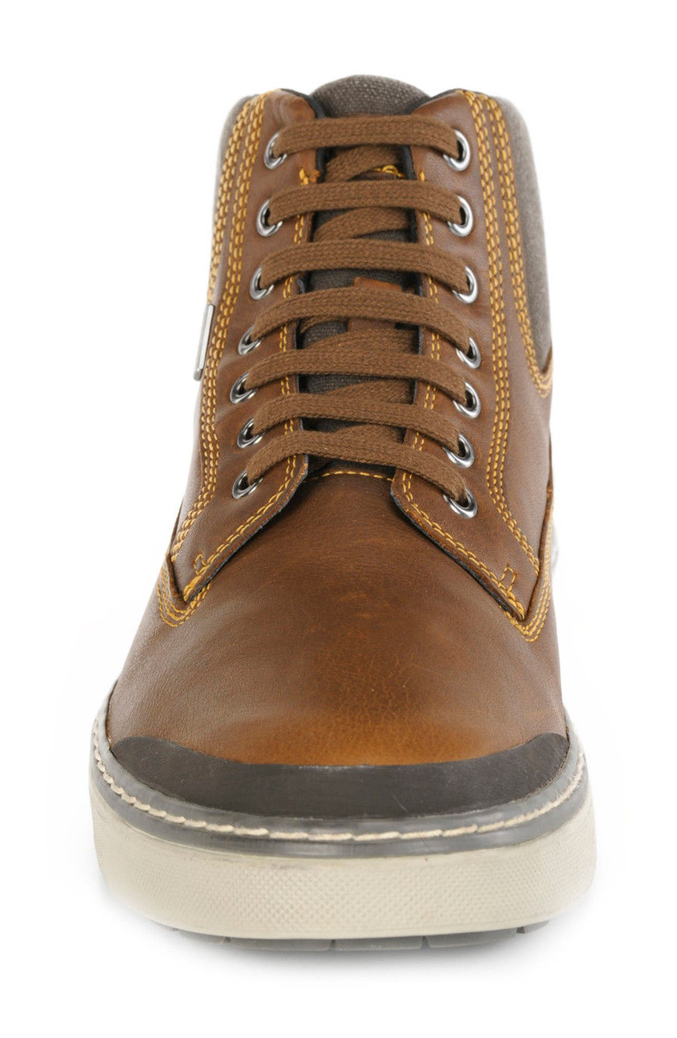 Mattias Amphibiox Waterproof Leather Sneaker,                             Alternate thumbnail 4, color,                             204