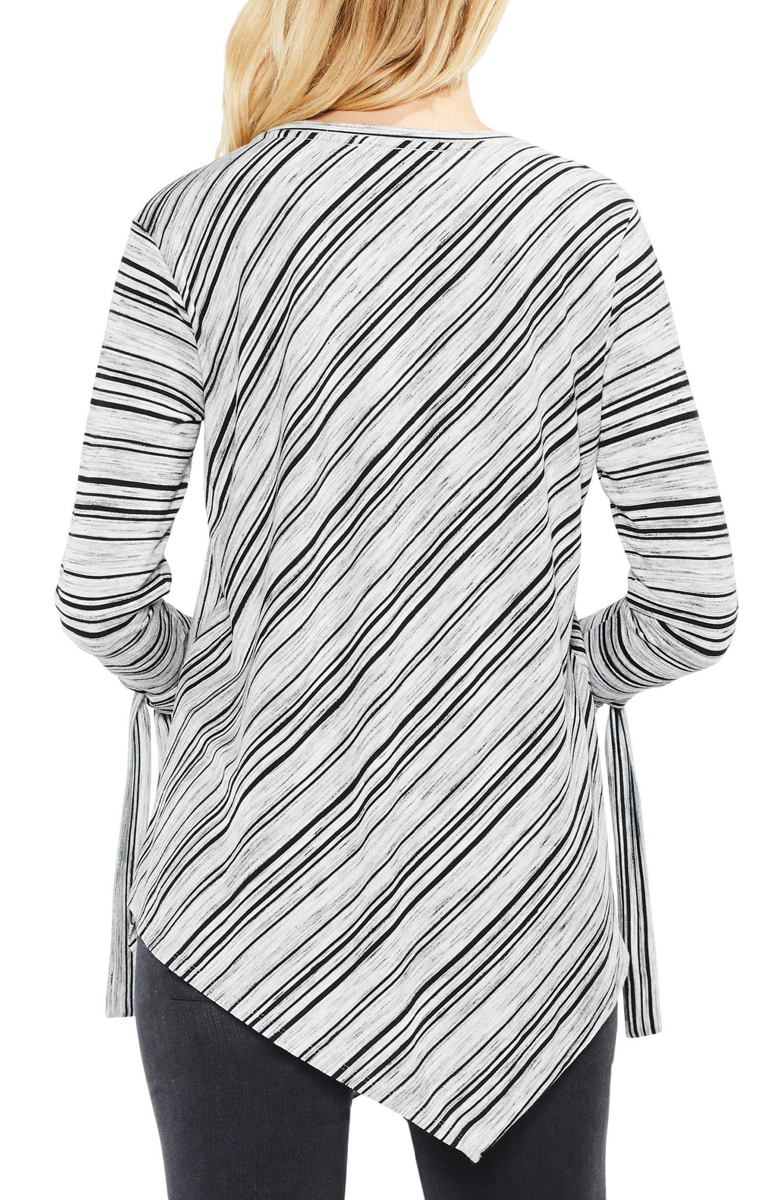 Tie-Cuff Asymmetric Hem Top,                             Alternate thumbnail 3, color,