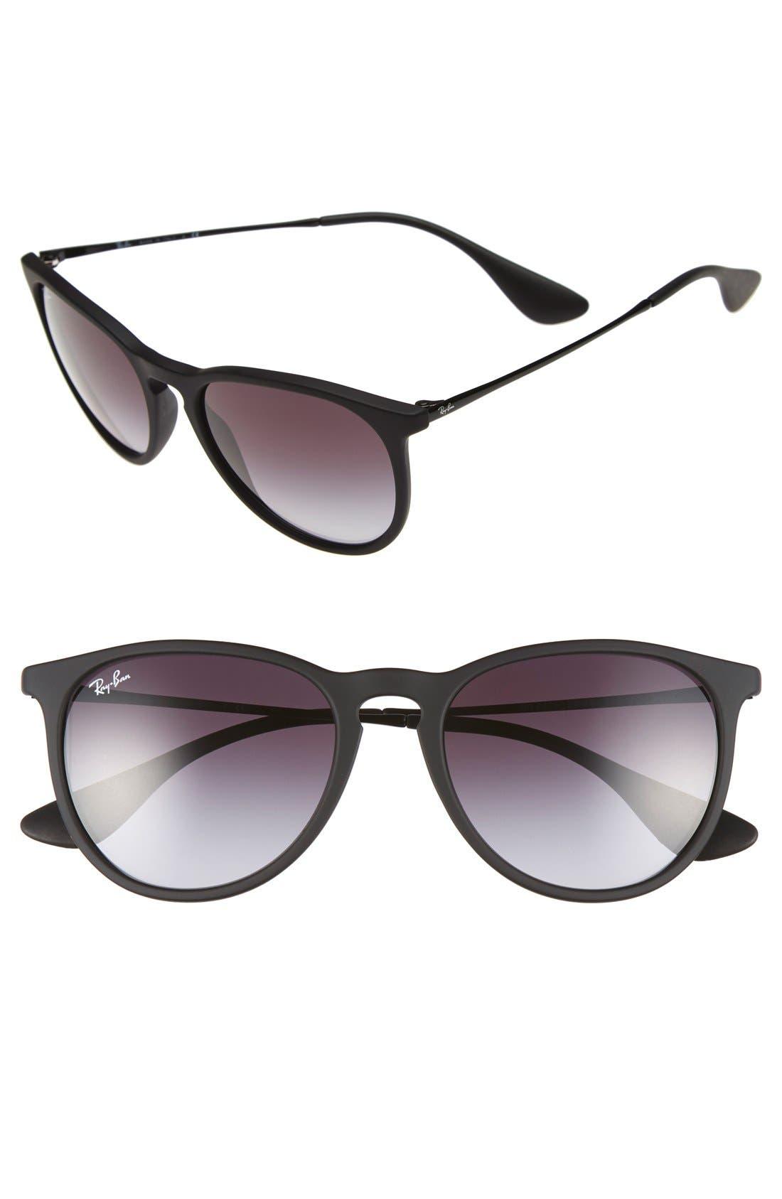 54mm Keyhole Sunglasses,                             Main thumbnail 1, color,                             MATTE BLACK