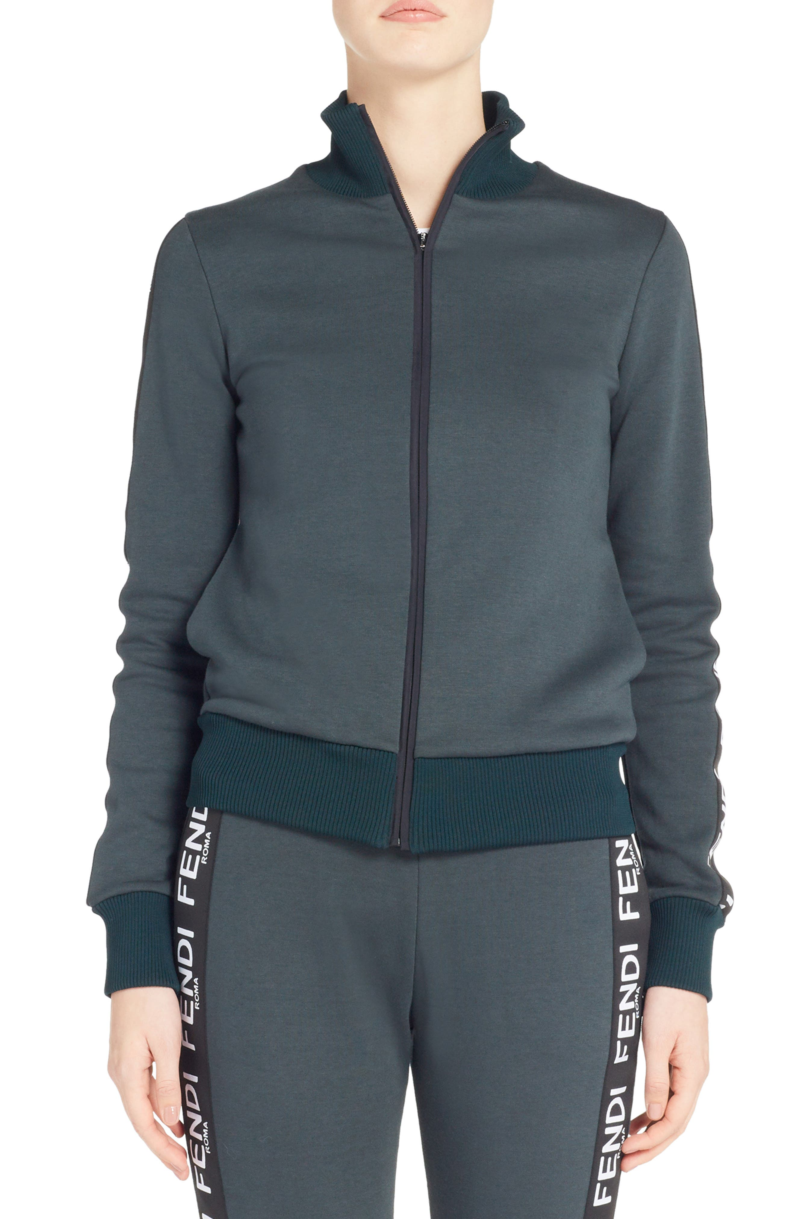 Logo Track Jacket,                             Main thumbnail 1, color,                             FOREST