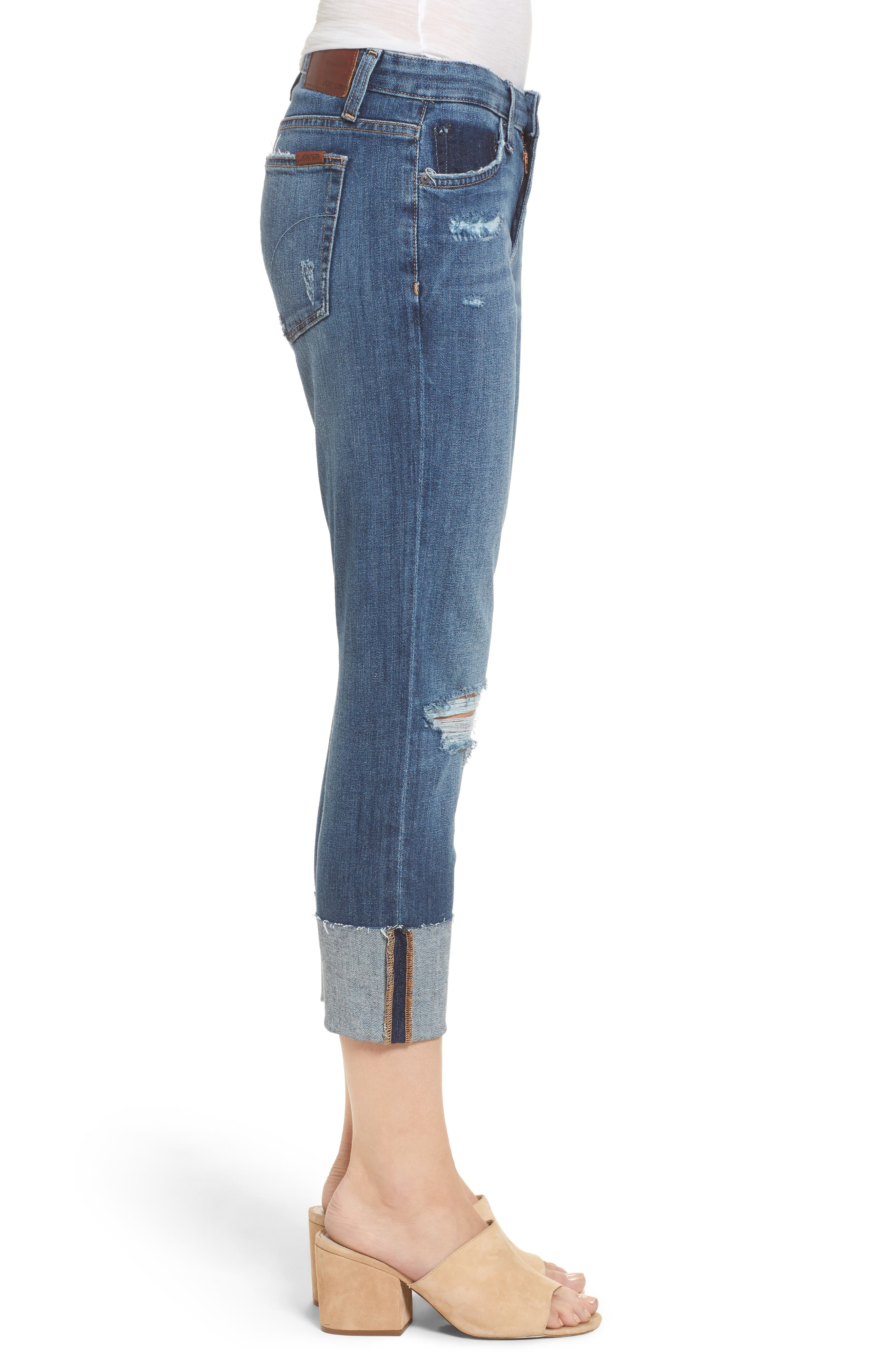 Smith Crop Boyfriend Jeans,                             Alternate thumbnail 3, color,                             400