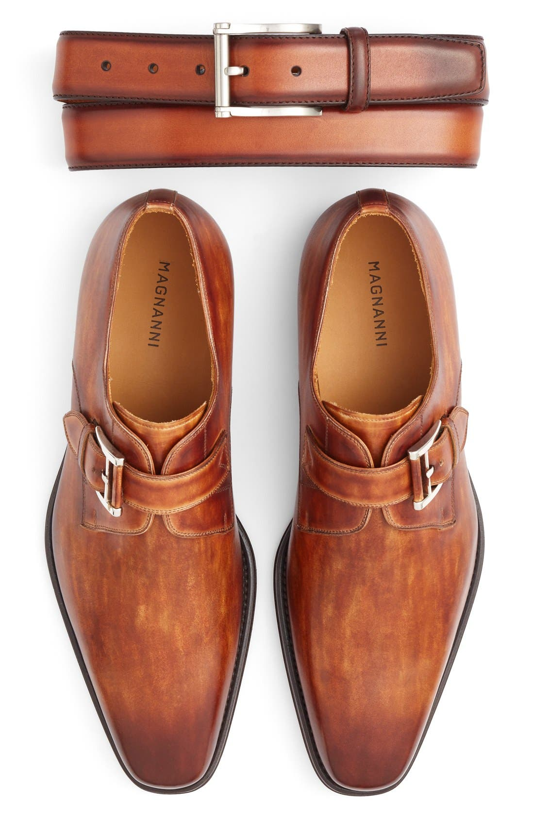 Marco Monk Strap Loafer,                             Alternate thumbnail 6, color,                             CUERO BROWN LEATHER
