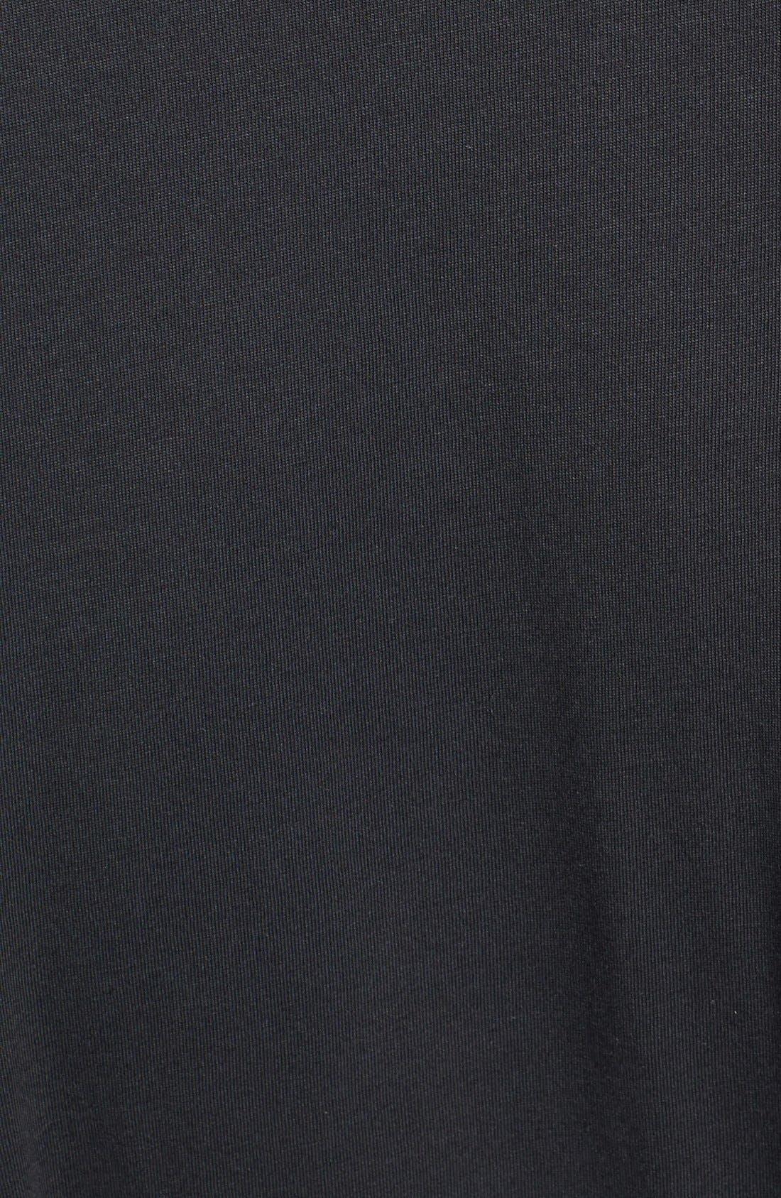 Peruvian Pima Cotton Robe,                             Alternate thumbnail 3, color,                             BLACK