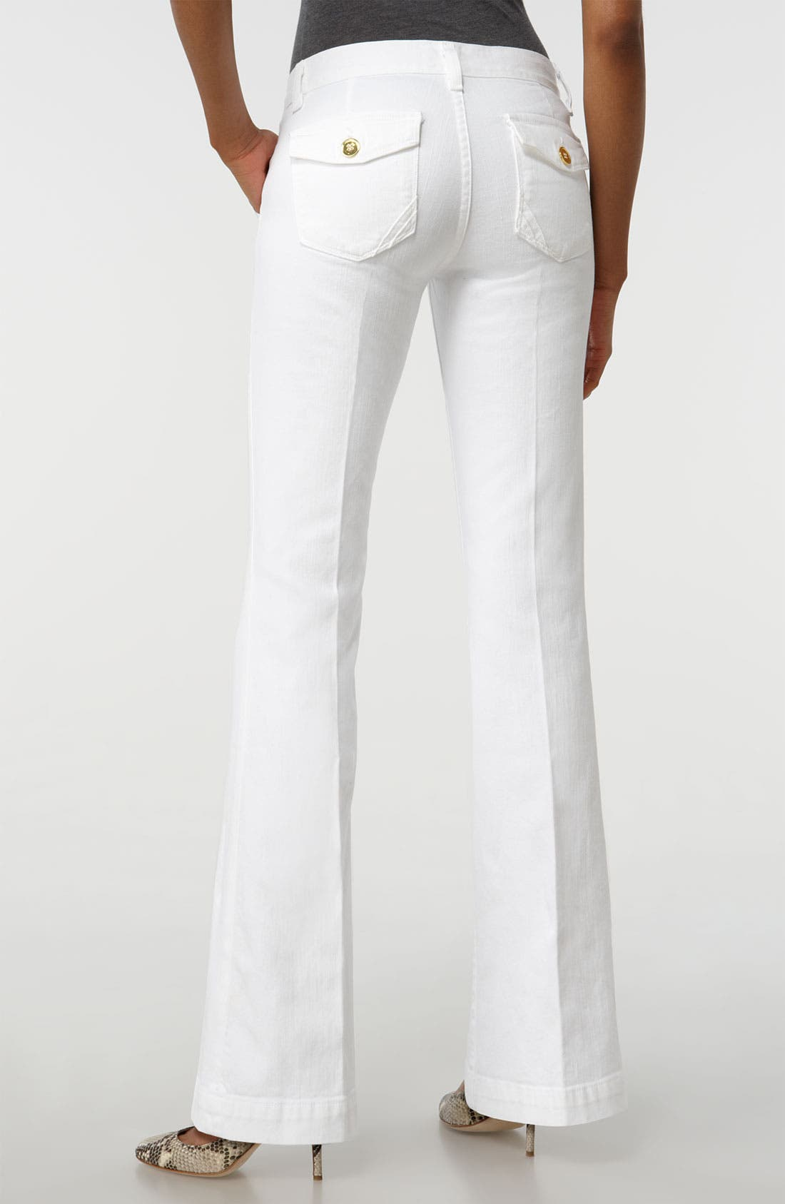 'Pascale' Stretch Trouser Jeans,                             Alternate thumbnail 2, color,                             100
