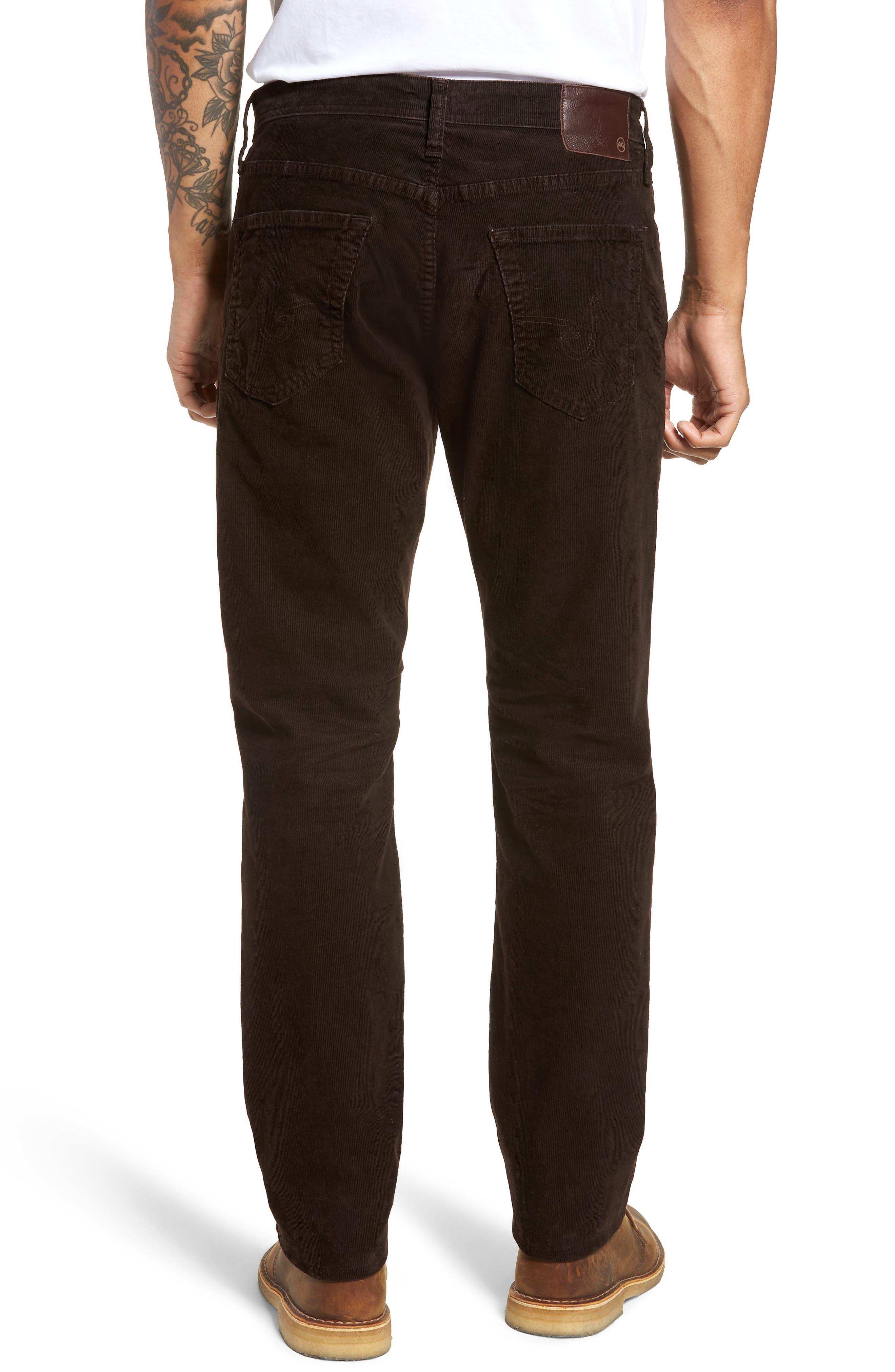 Everett Straight Leg Corduroy Pants,                             Alternate thumbnail 2, color,                             SULFUR SHUTTER