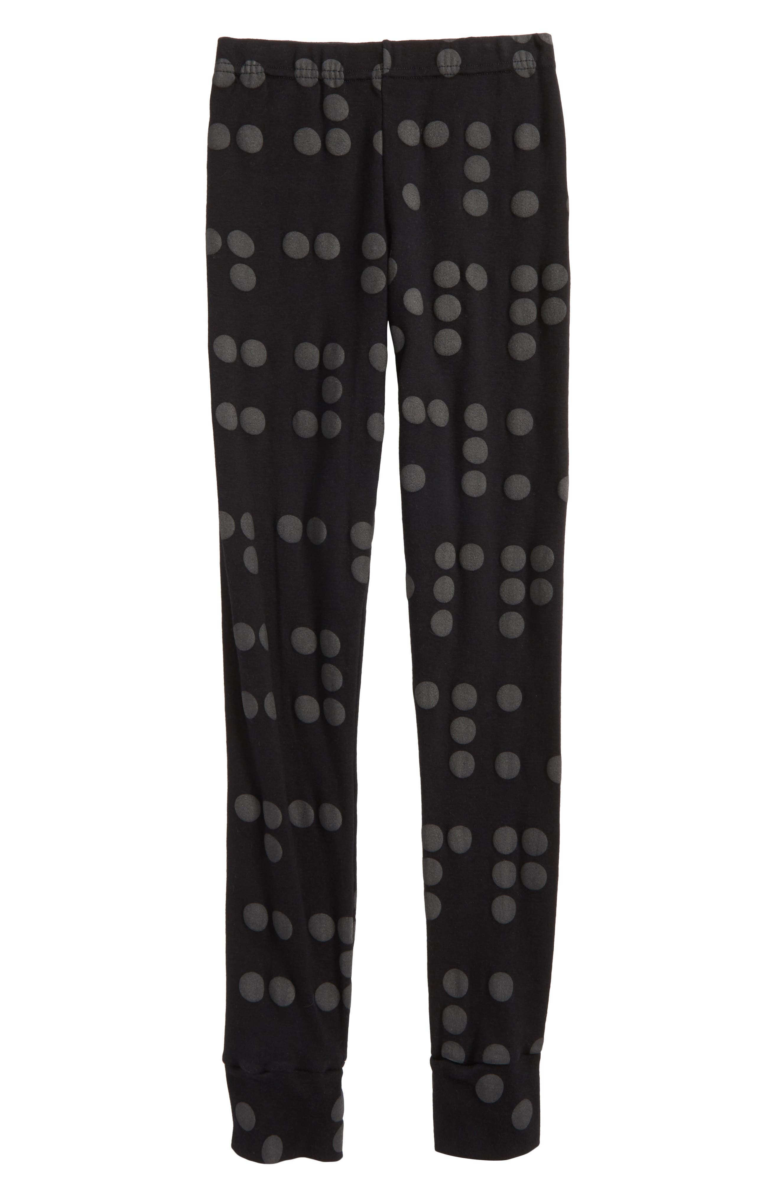 Braille Dot Leggings,                             Main thumbnail 1, color,                             001