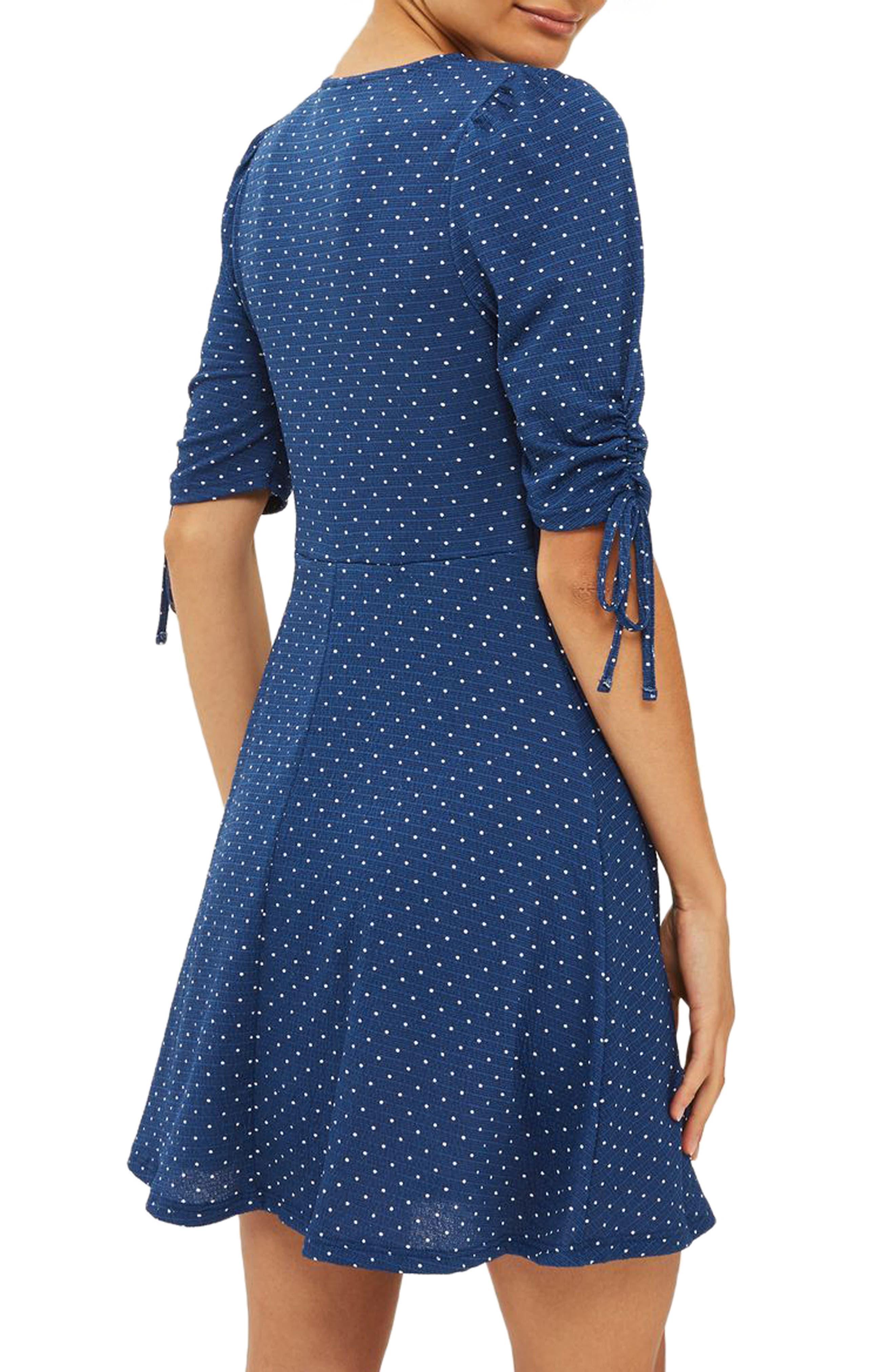 Polka Dot Tea Dress,                             Alternate thumbnail 2, color,