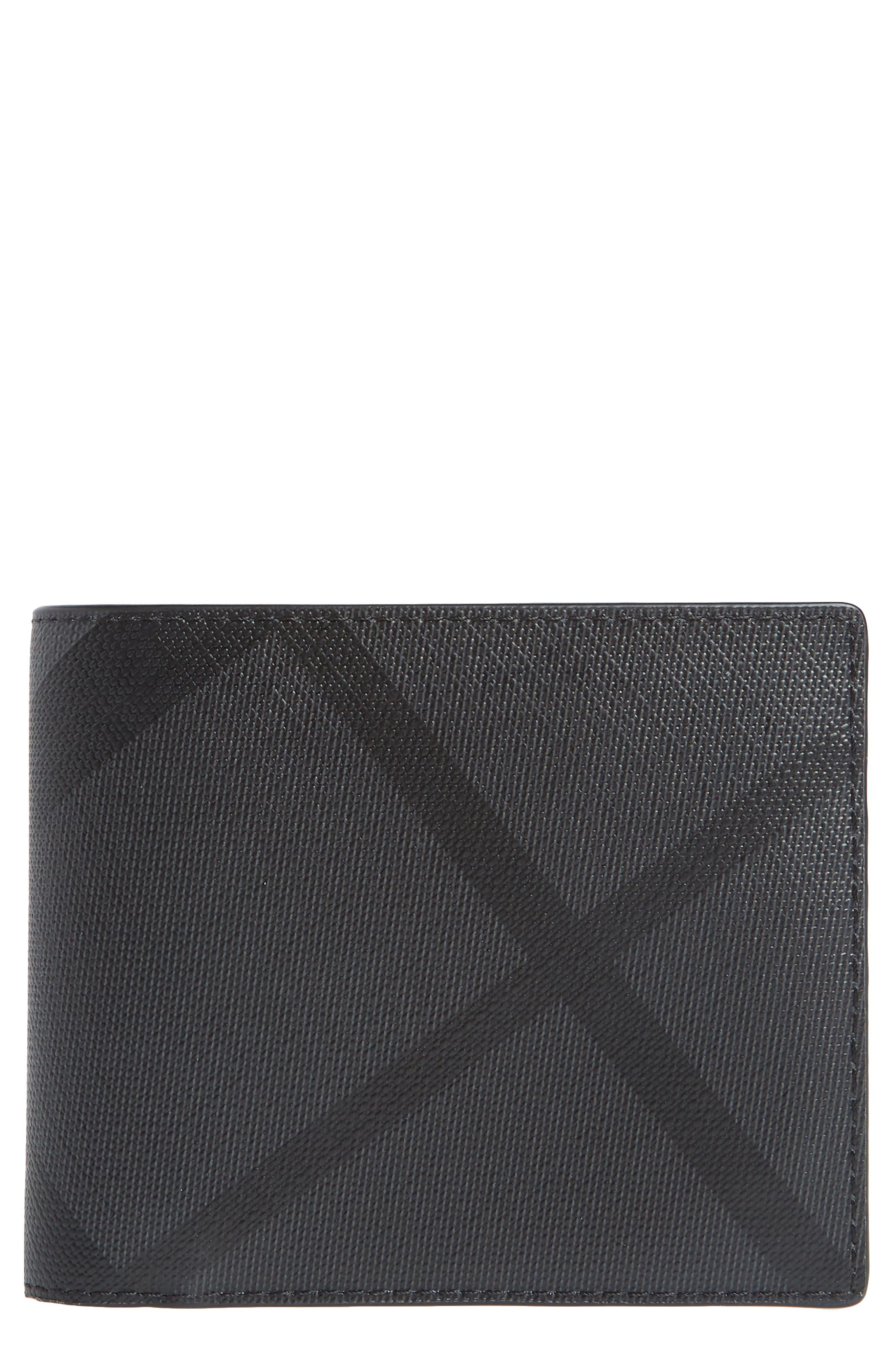Ronan Check Billfold Wallet,                         Main,                         color, 020