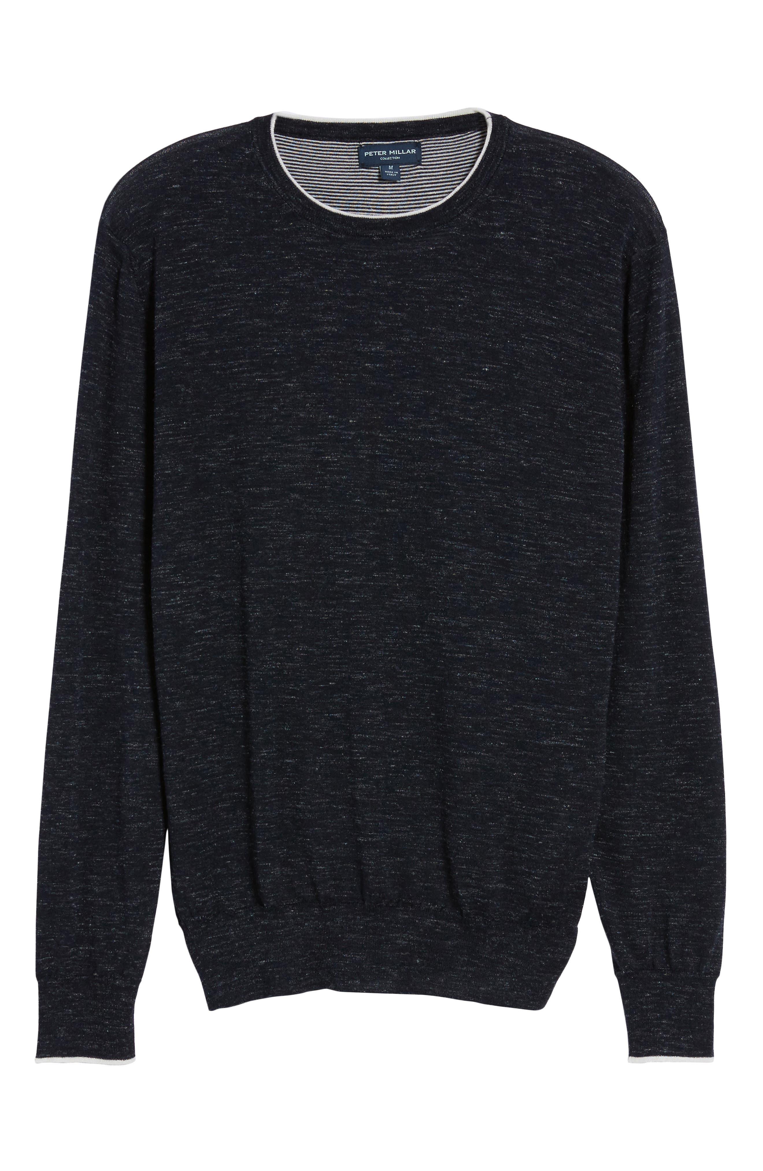 Summertime Crewneck Cotton & Silk Sweater,                             Alternate thumbnail 6, color,                             440
