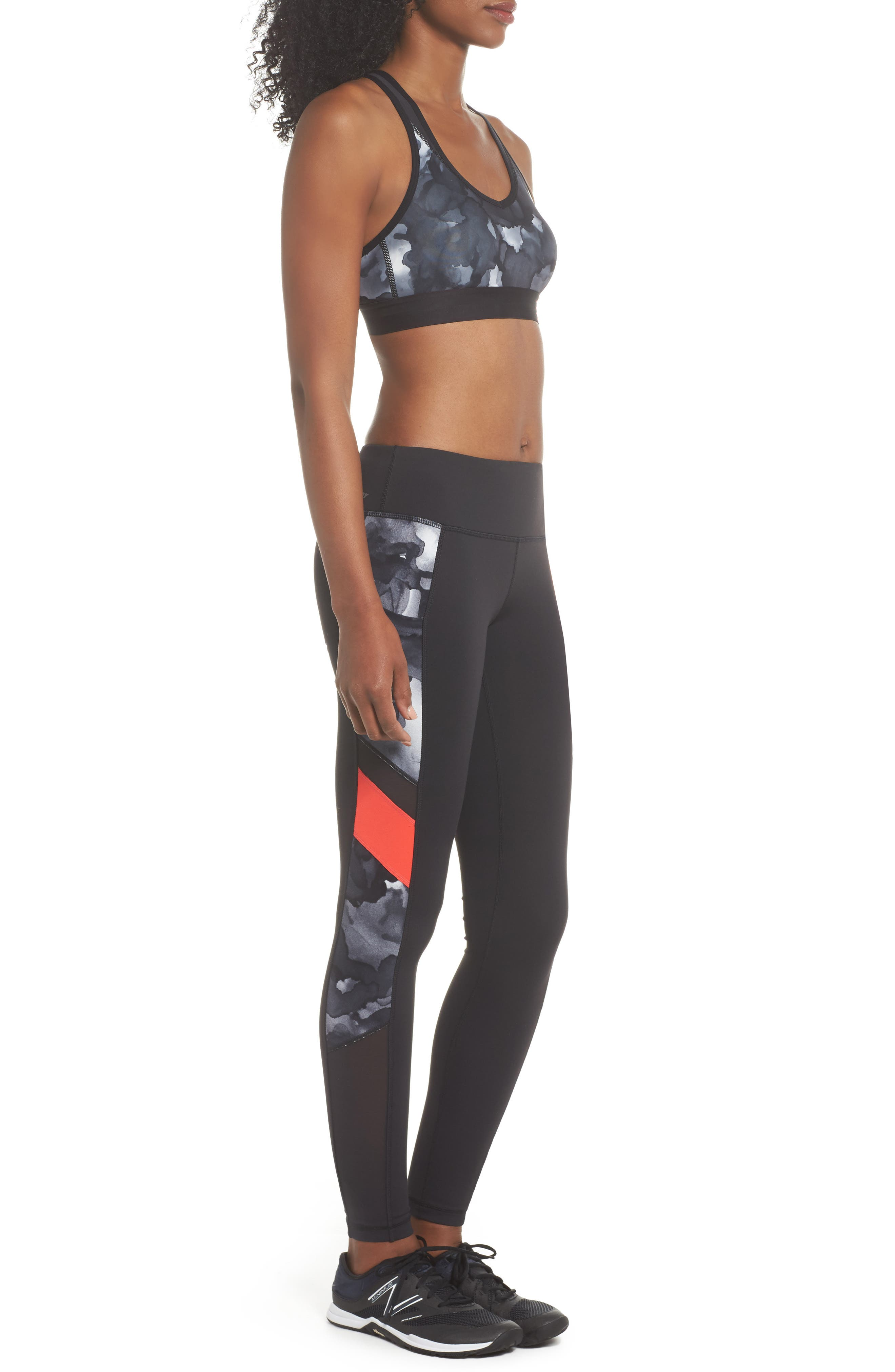 Pace Print Sports Bra,                             Alternate thumbnail 10, color,                             035
