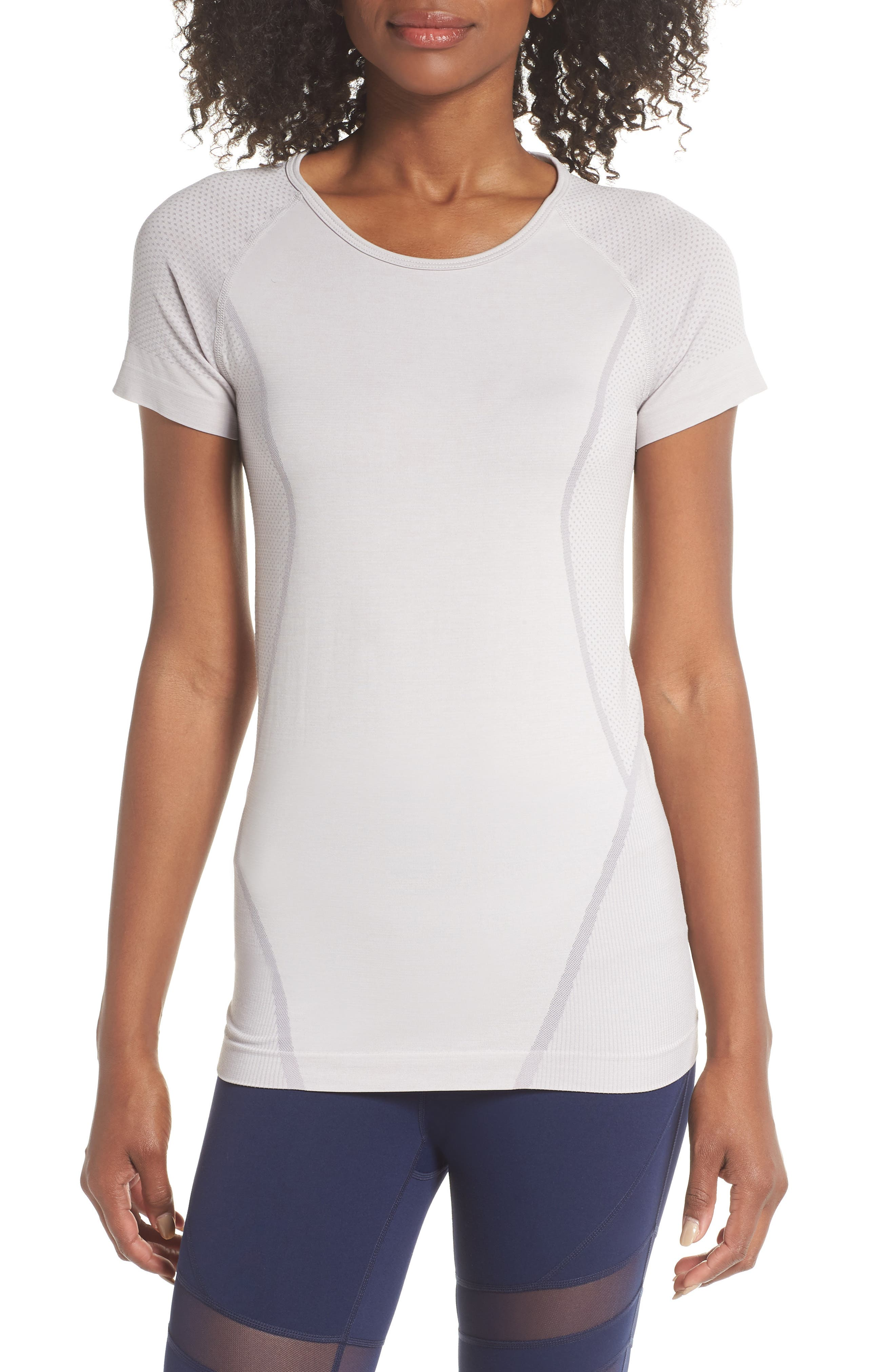 Stand Out Seamless Training Tee,                             Main thumbnail 1, color,                             GREY BIRD