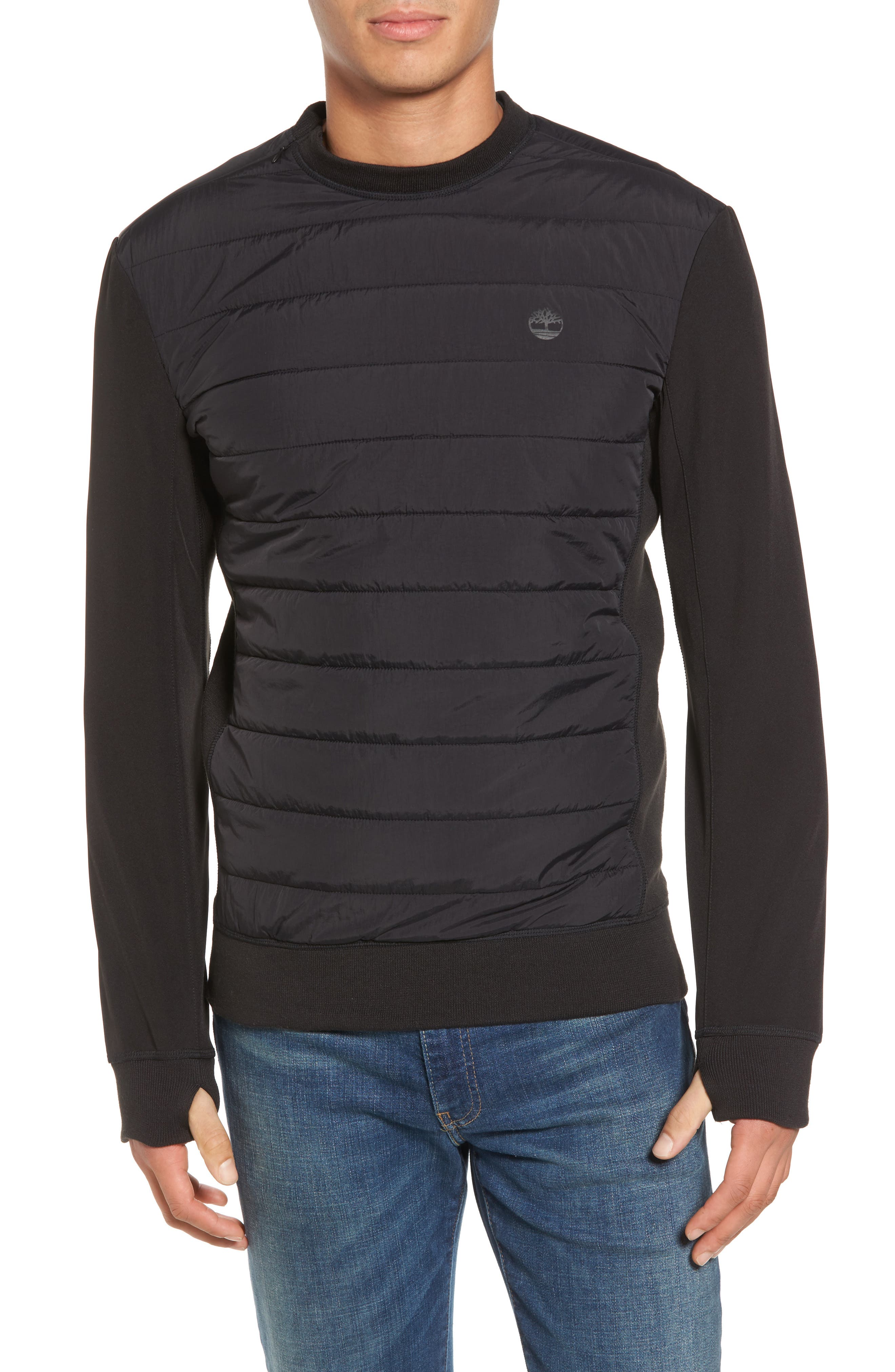Quilted Pullover,                         Main,                         color, 001