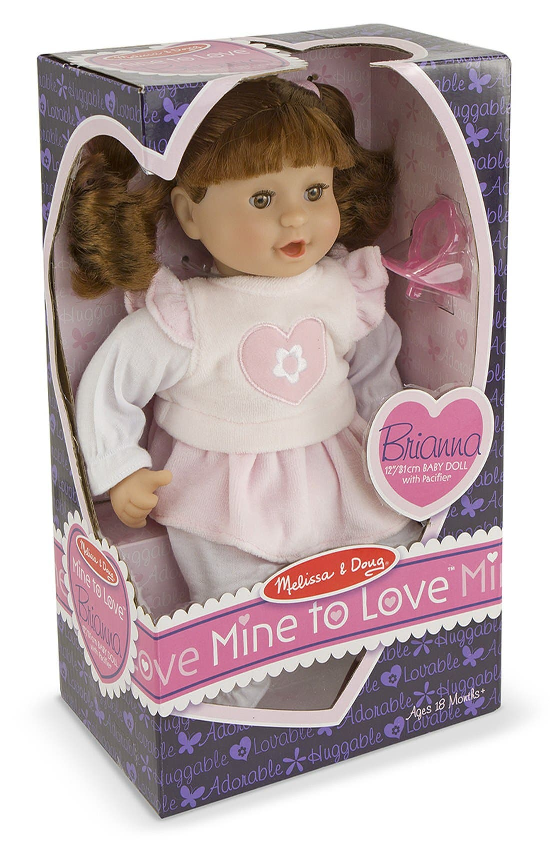 MELISSA & DOUG,                             'Mine to Love - Brianna' Doll,                             Alternate thumbnail 2, color,                             PINK