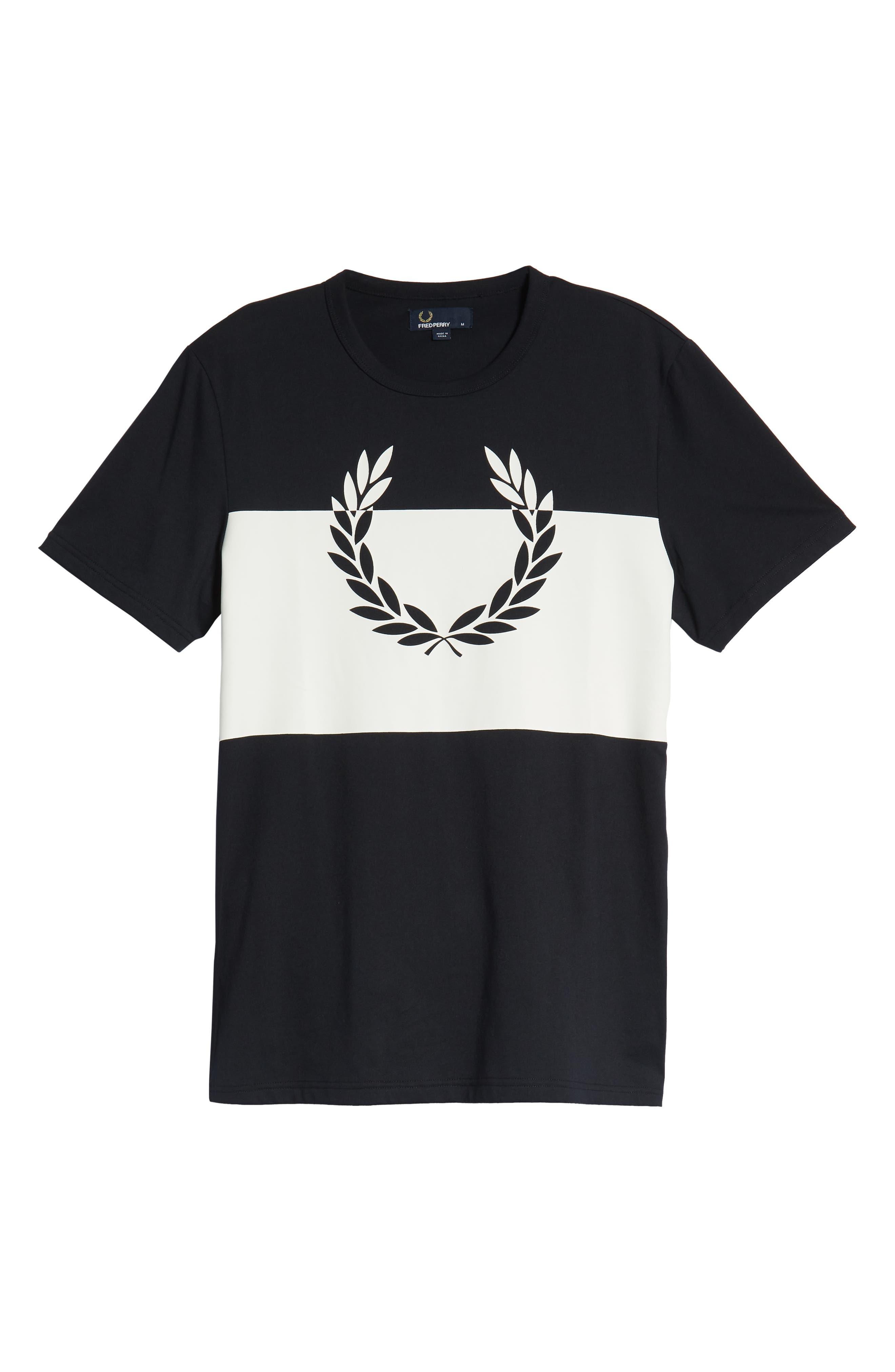 Laurel Wreath Graphic T-Shirt,                             Alternate thumbnail 6, color,                             NAVY