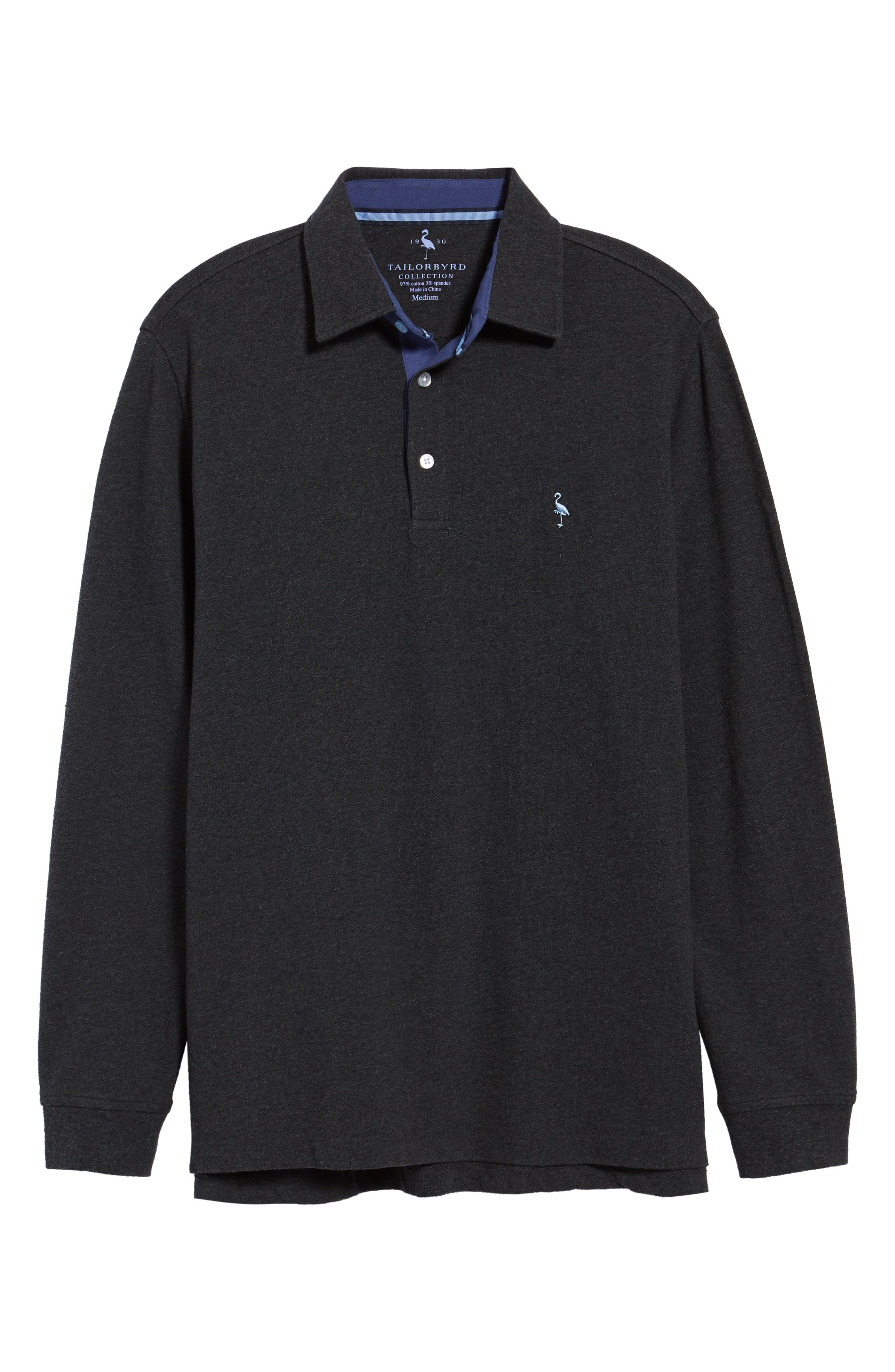 Two-Tone Piqué Knit Polo,                             Alternate thumbnail 6, color,                             020