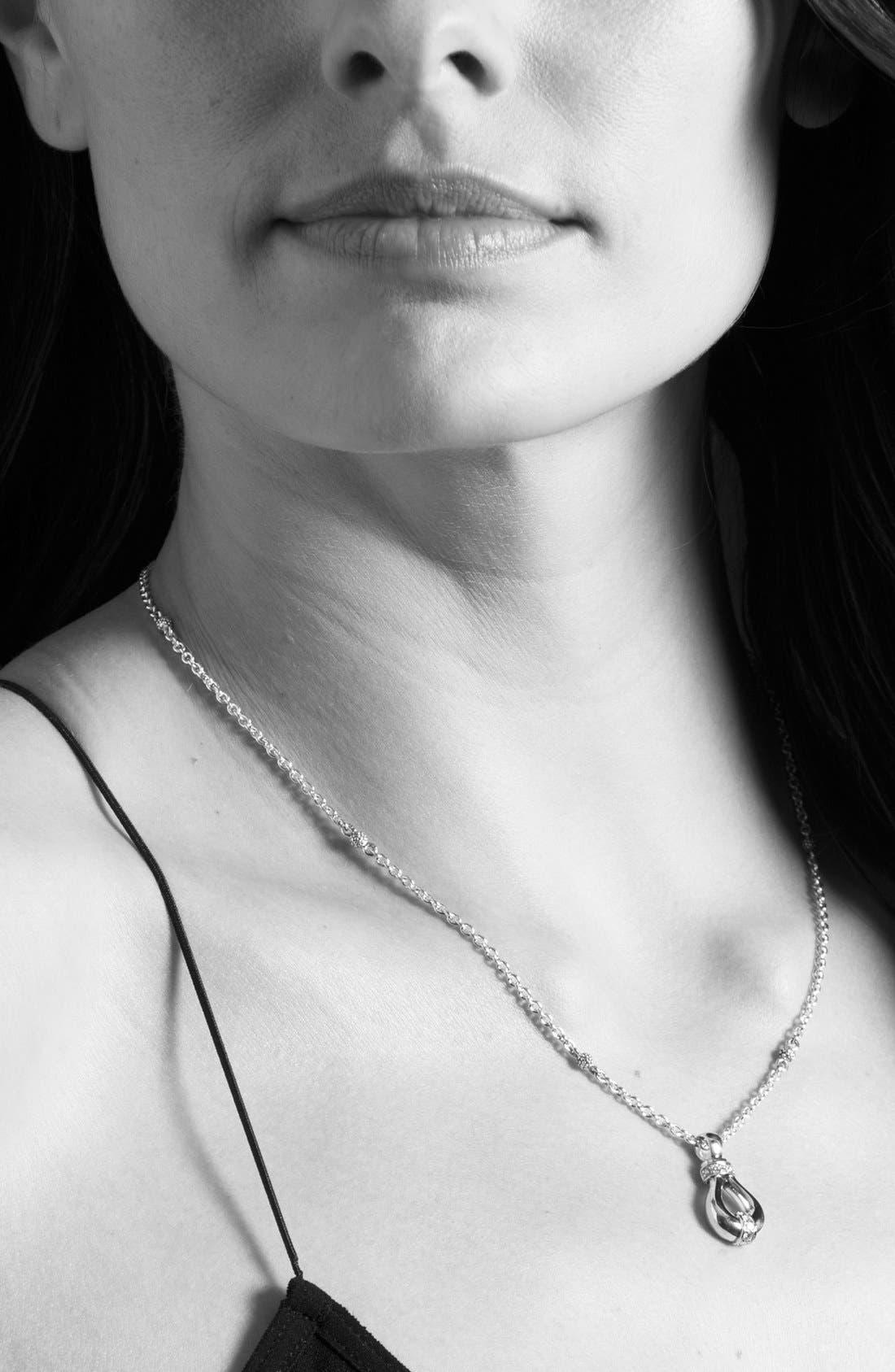 'Derby' Diamond Pendant Necklace,                             Alternate thumbnail 4, color,                             040