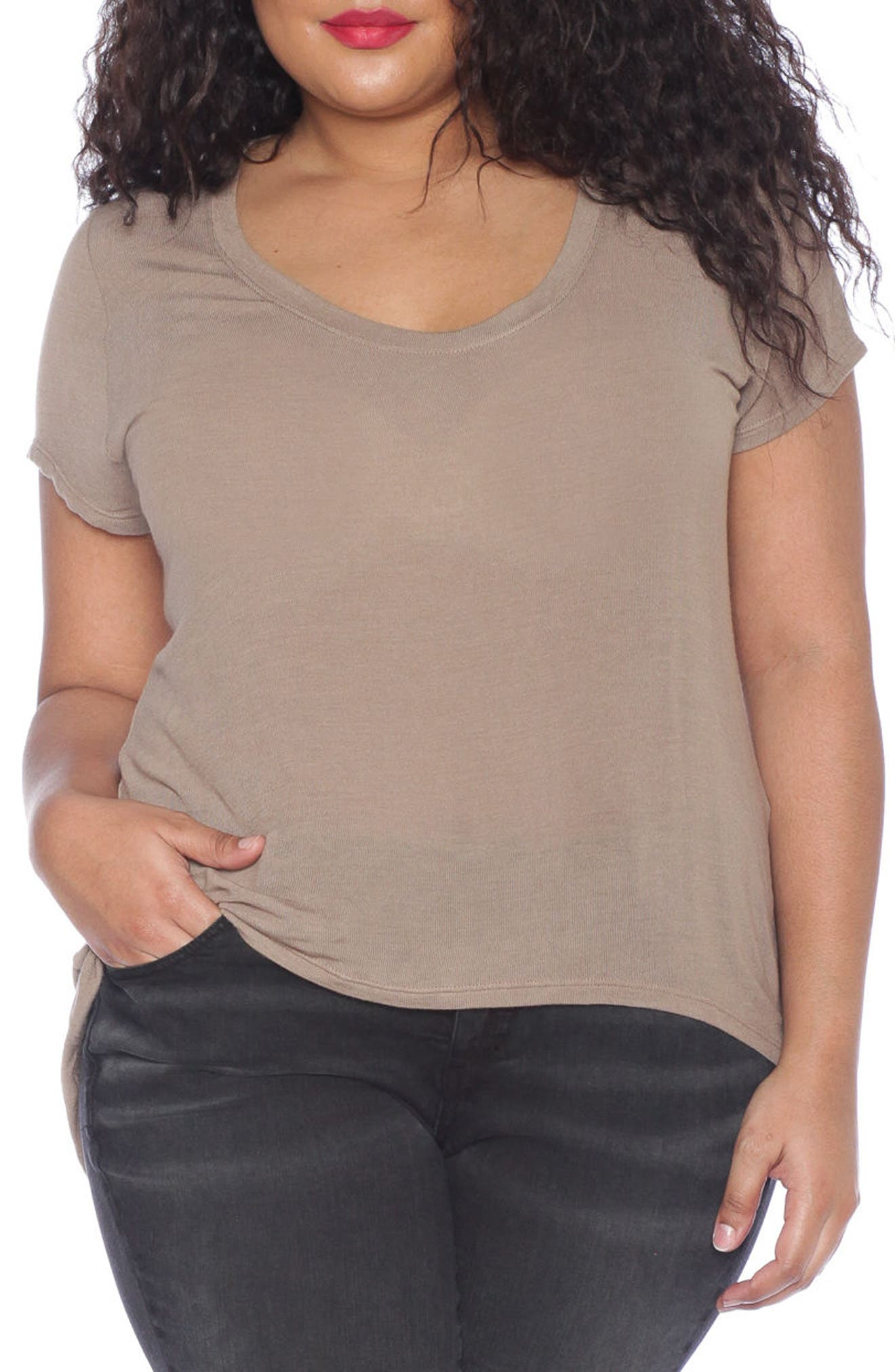 High/Low Scoop Neck Tee,                             Main thumbnail 1, color,                             210