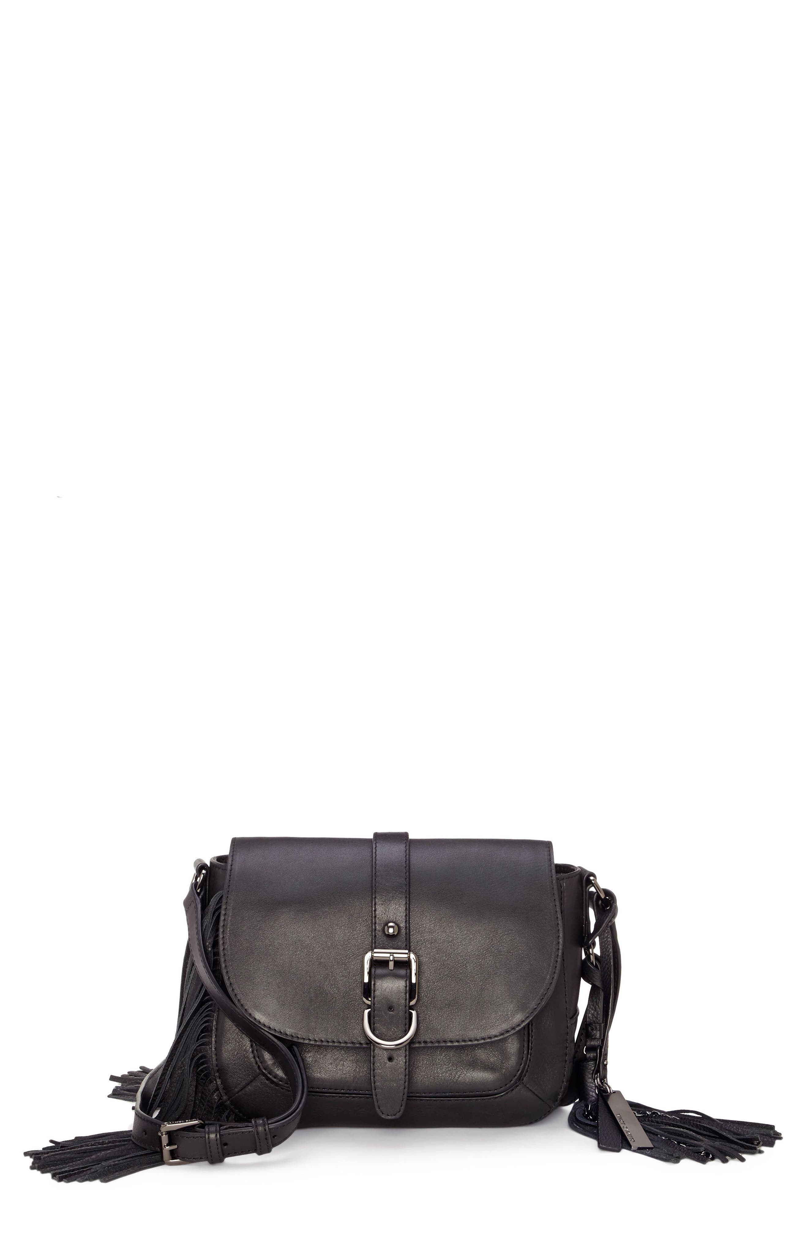 Hil Leather Crossbody Bag,                             Main thumbnail 1, color,                             002