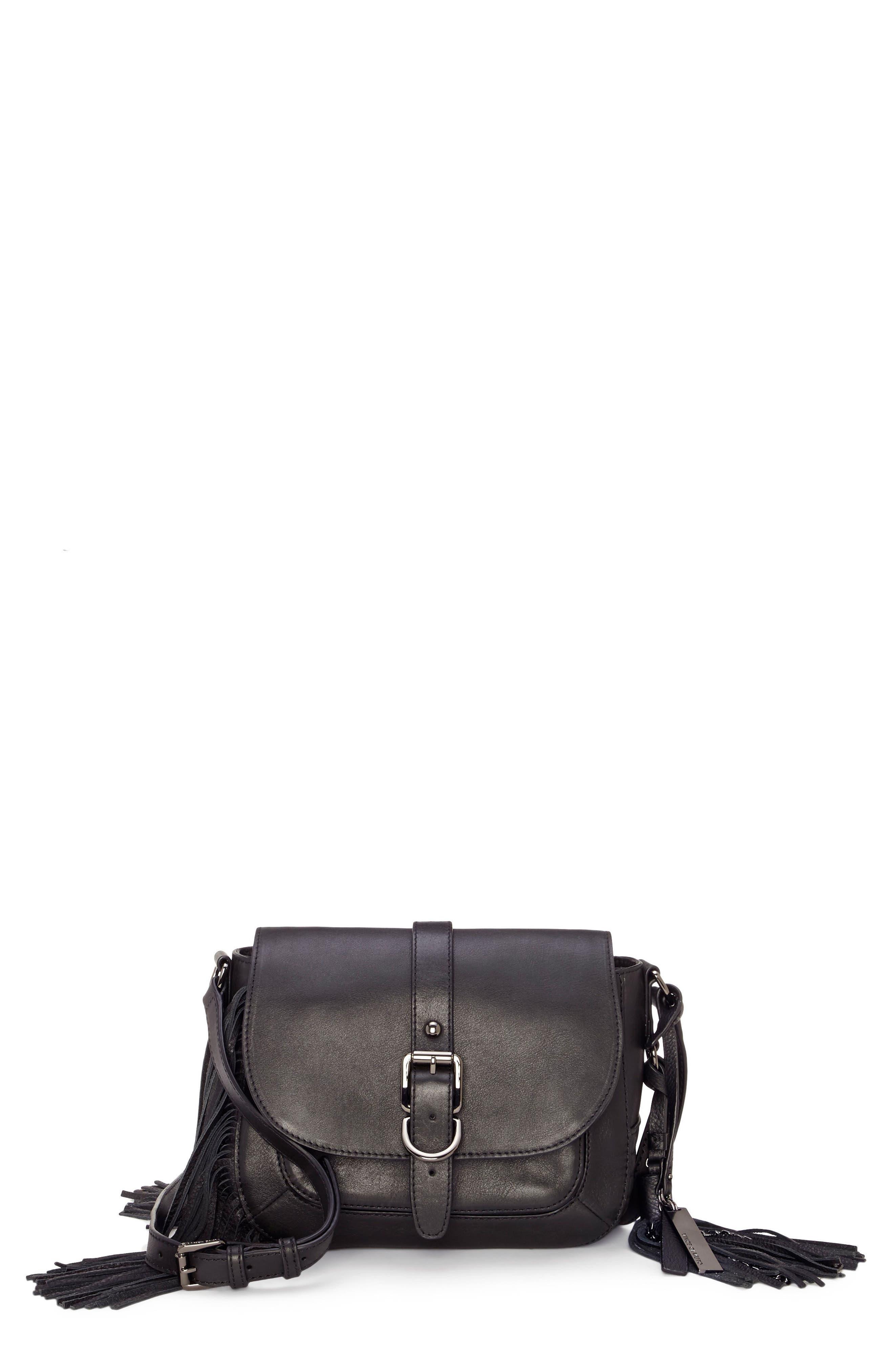 Hil Leather Crossbody Bag,                         Main,                         color, 002