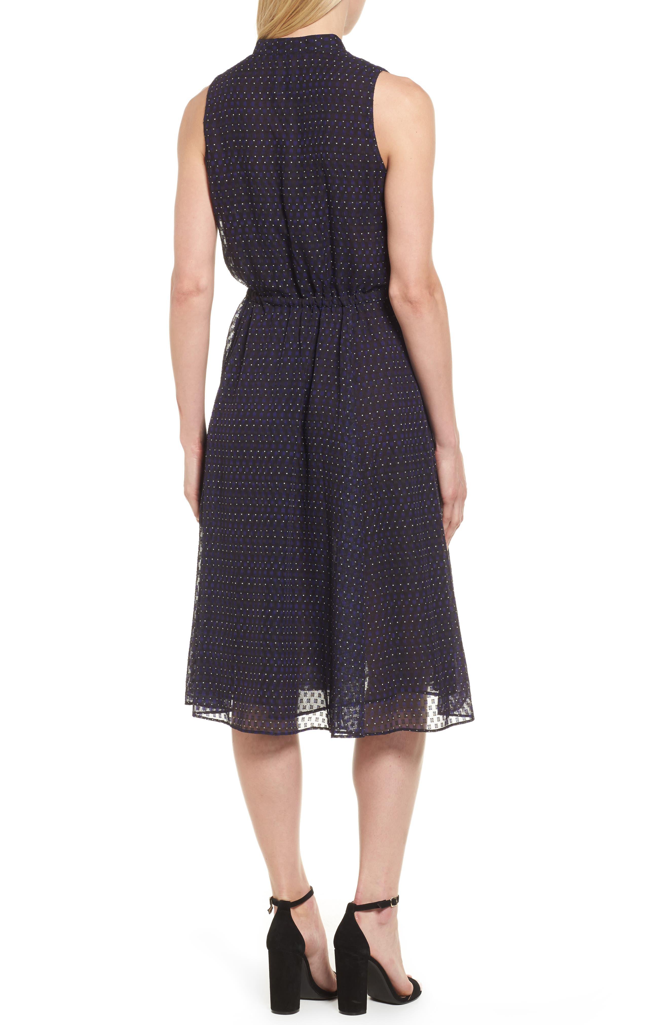 Print A-Line Dress,                             Alternate thumbnail 2, color,                             500
