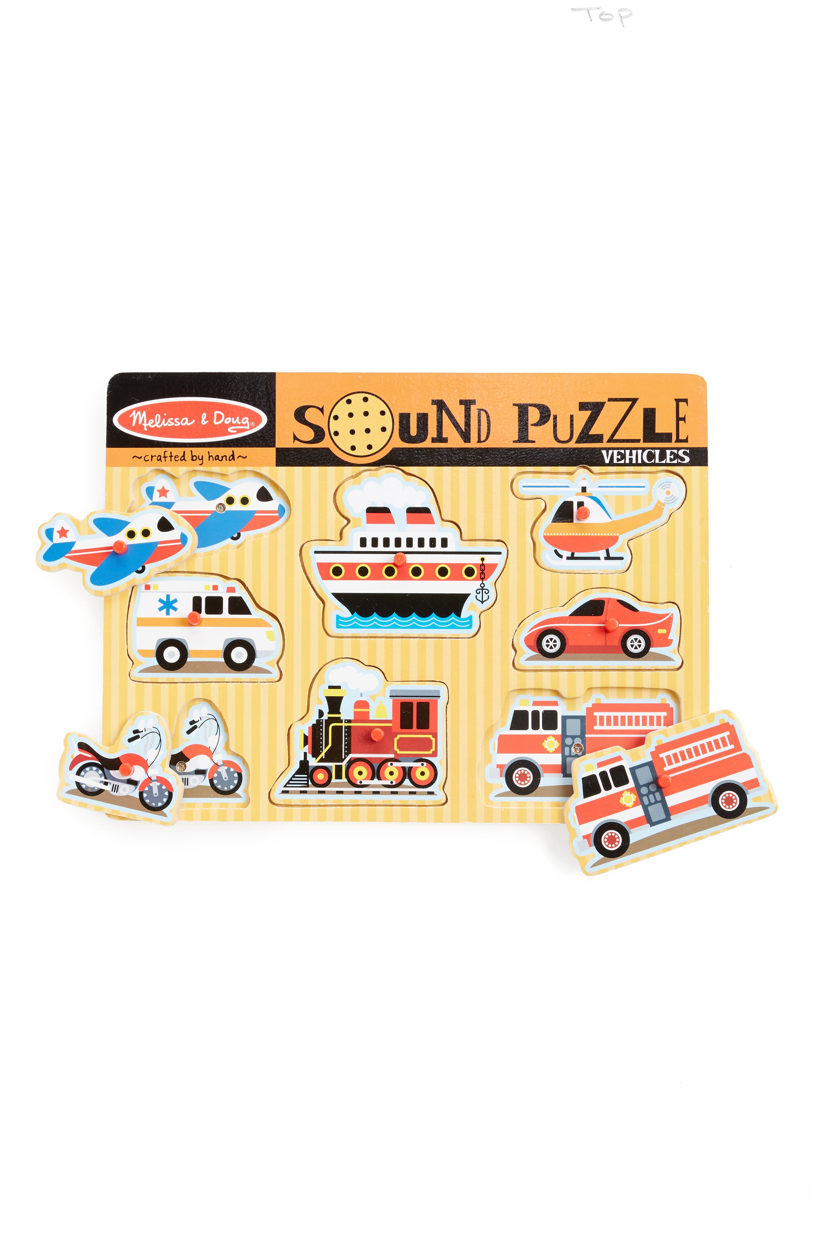 Vehicles Sound Puzzle,                         Main,                         color, BROWN