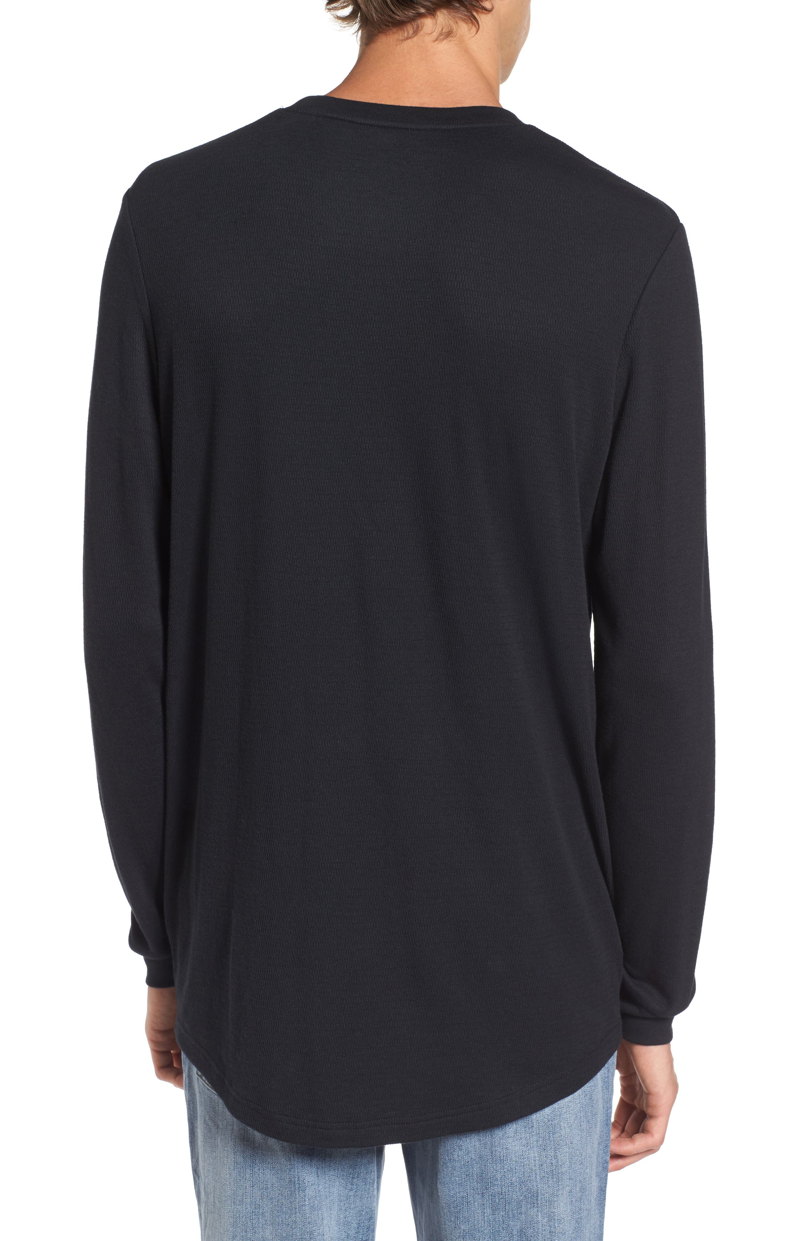 Longline Thermal T-Shirt,                             Alternate thumbnail 4, color,