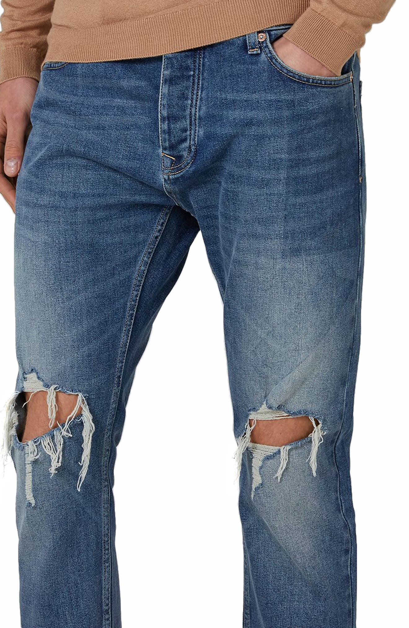 Polly Ripped Jeans,                             Alternate thumbnail 3, color,                             400