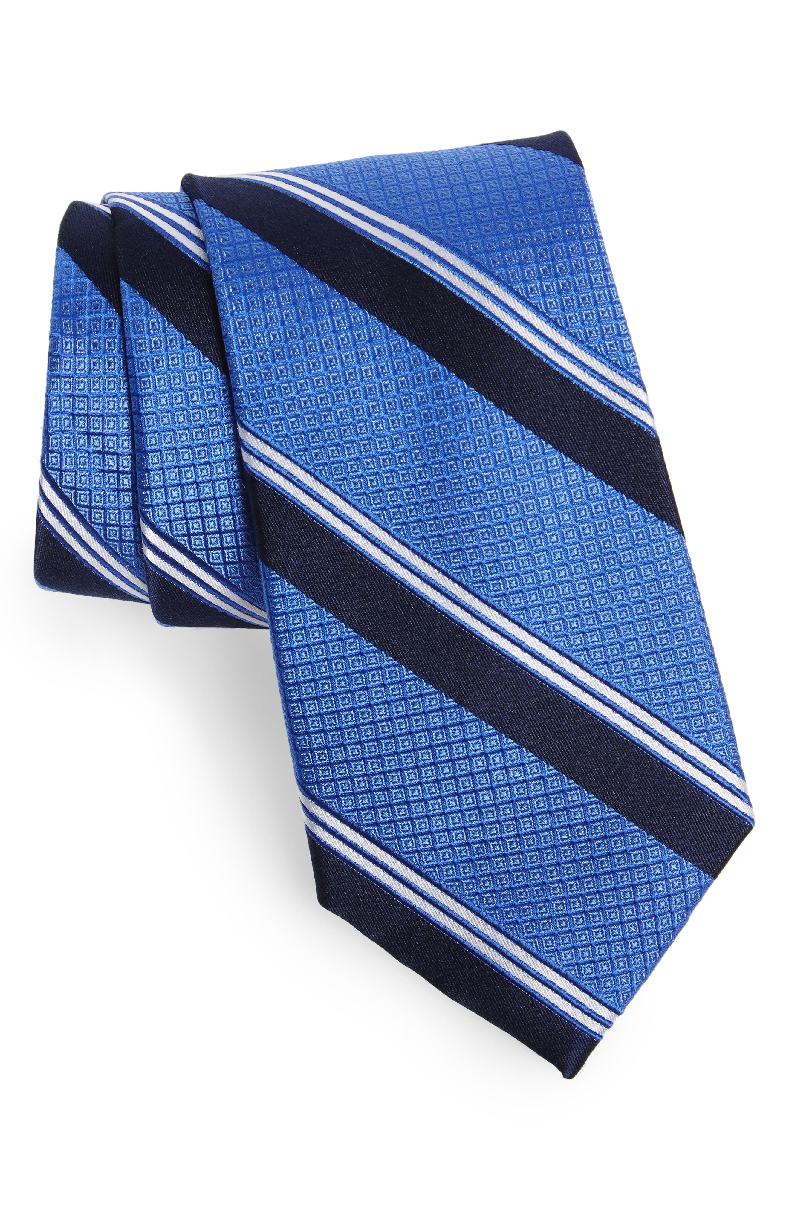 Stripe Silk Tie,                             Main thumbnail 1, color,