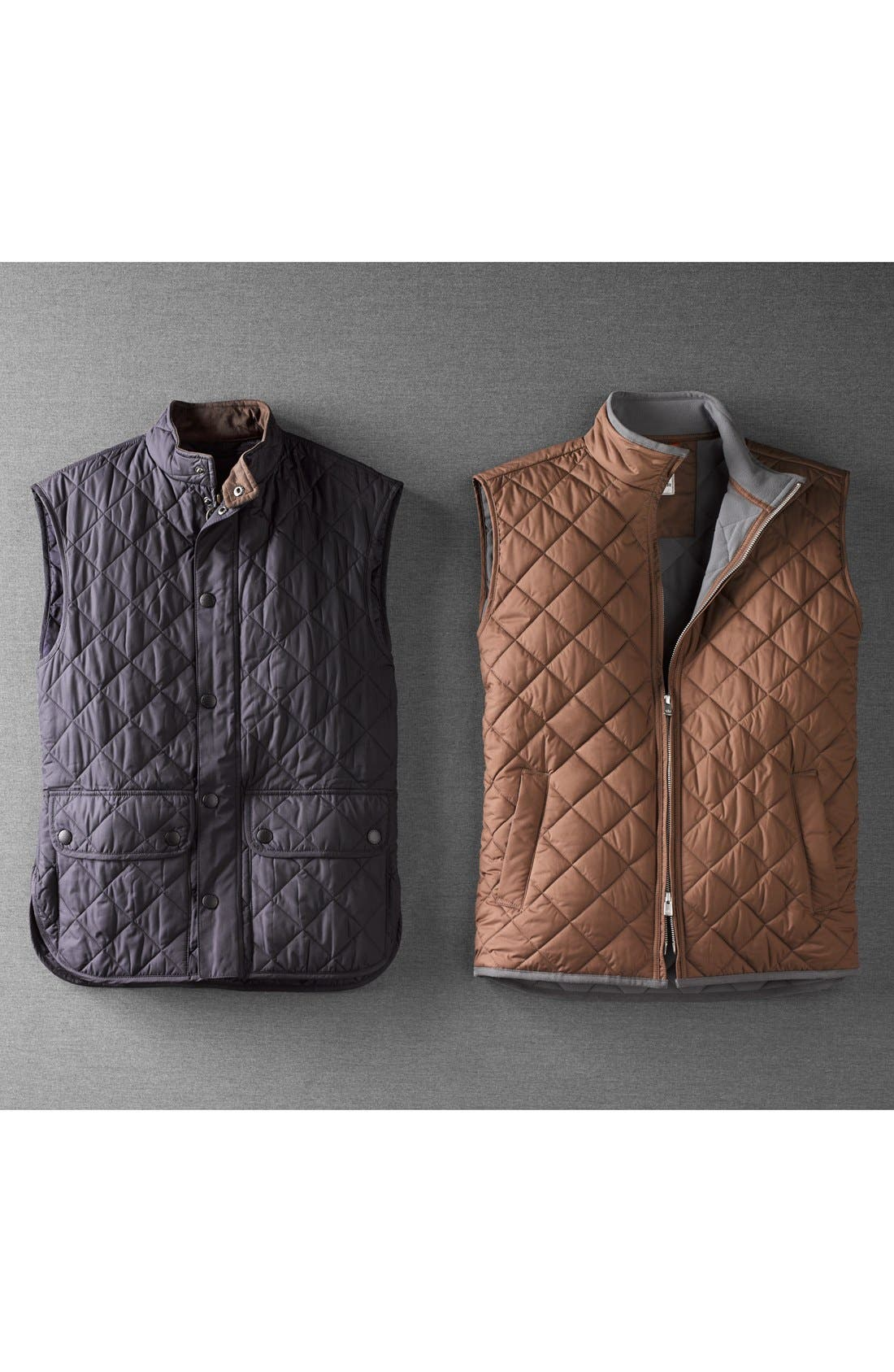 'Lowerdale' Trim Fit Quilted Vest,                             Alternate thumbnail 5, color,                             001