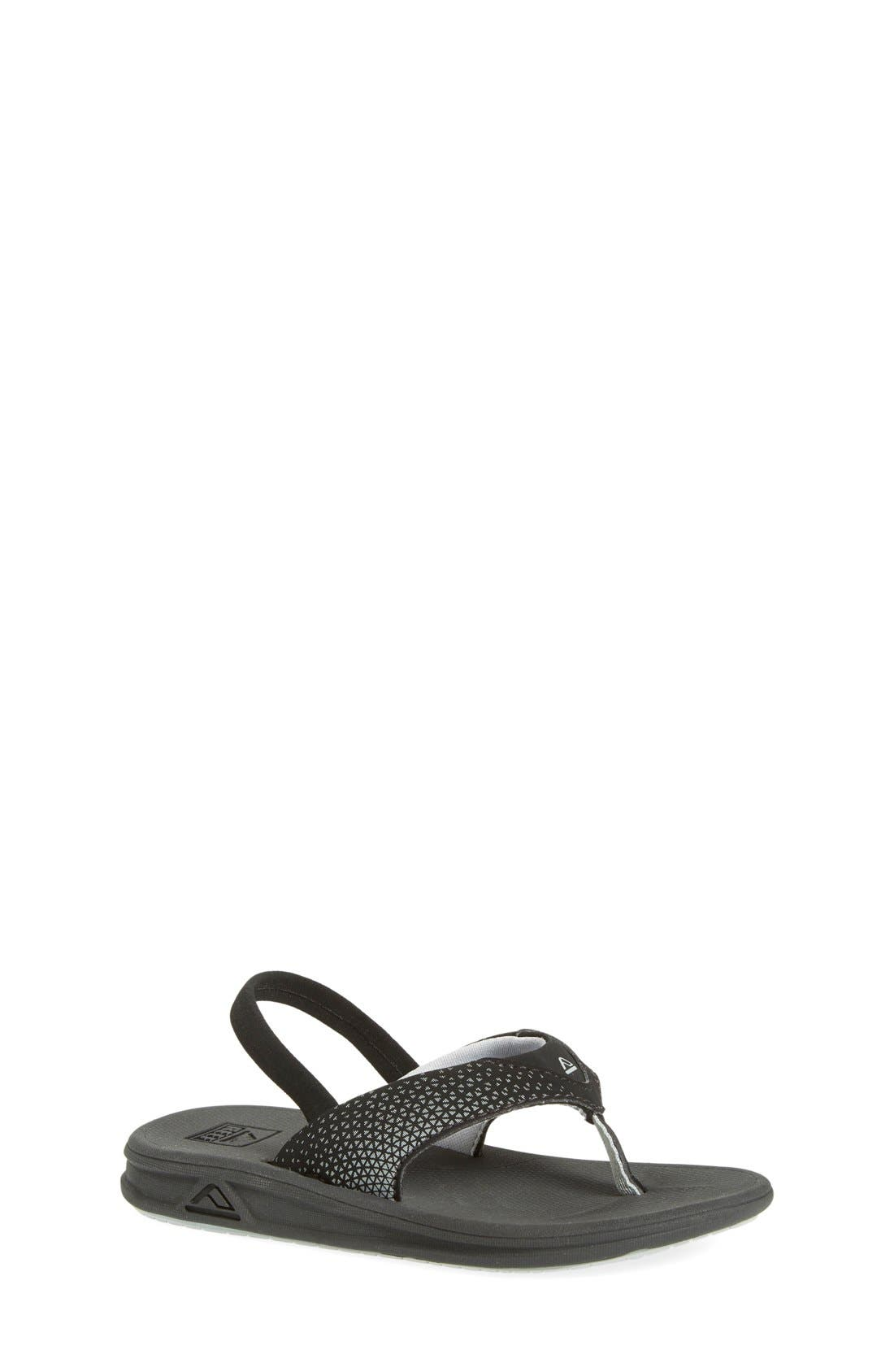 'Grom Rover' Water Friendly Sandal,                             Main thumbnail 1, color,                             BLACK