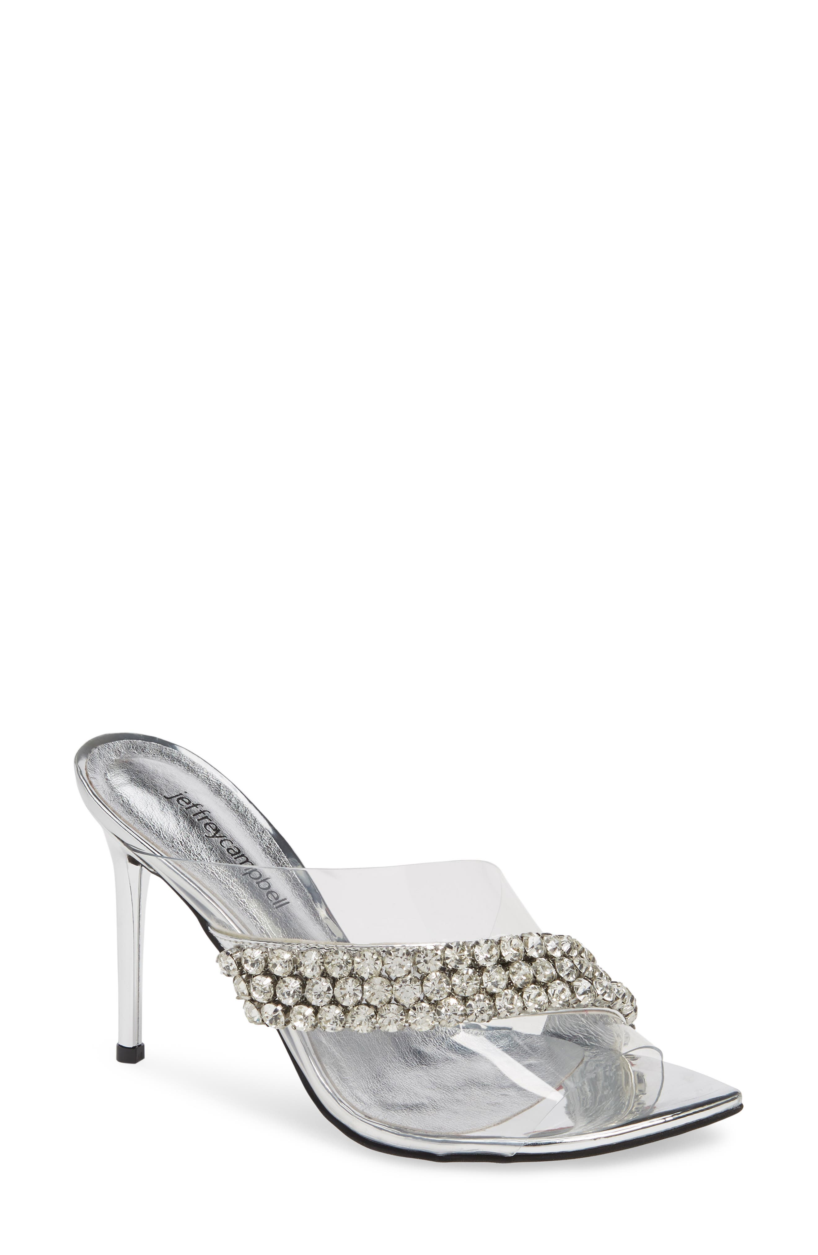 Glam Sandal, Main, color, SILVER MIRROR LEATHER