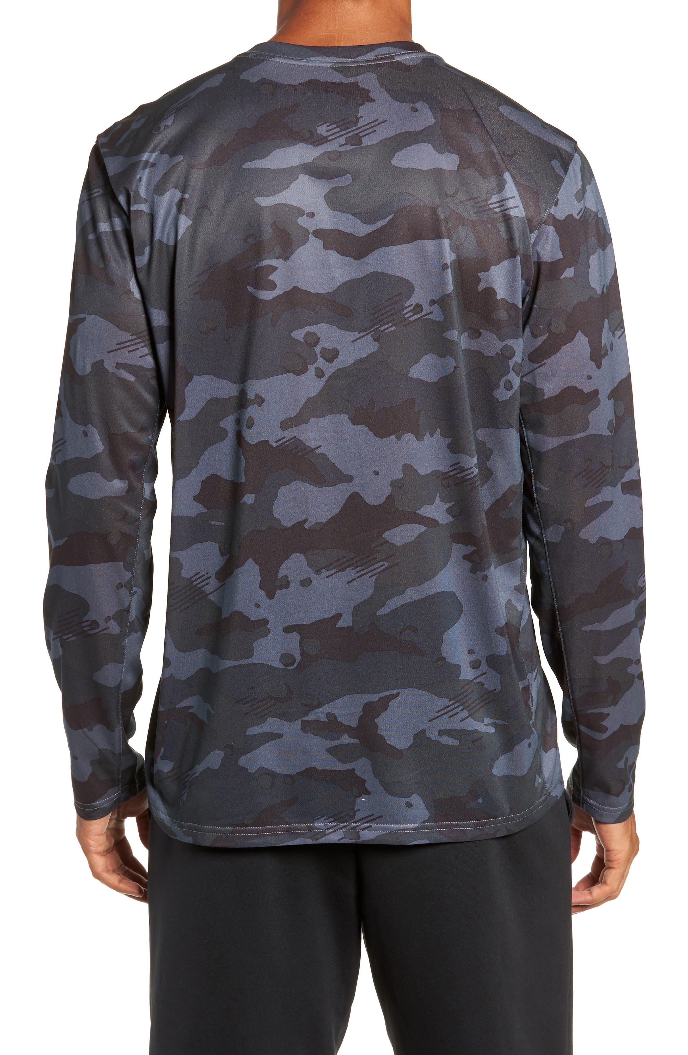 Dry Long Sleeve Camo T-Shirt,                             Alternate thumbnail 2, color,                             DARK GREY/ WHITE