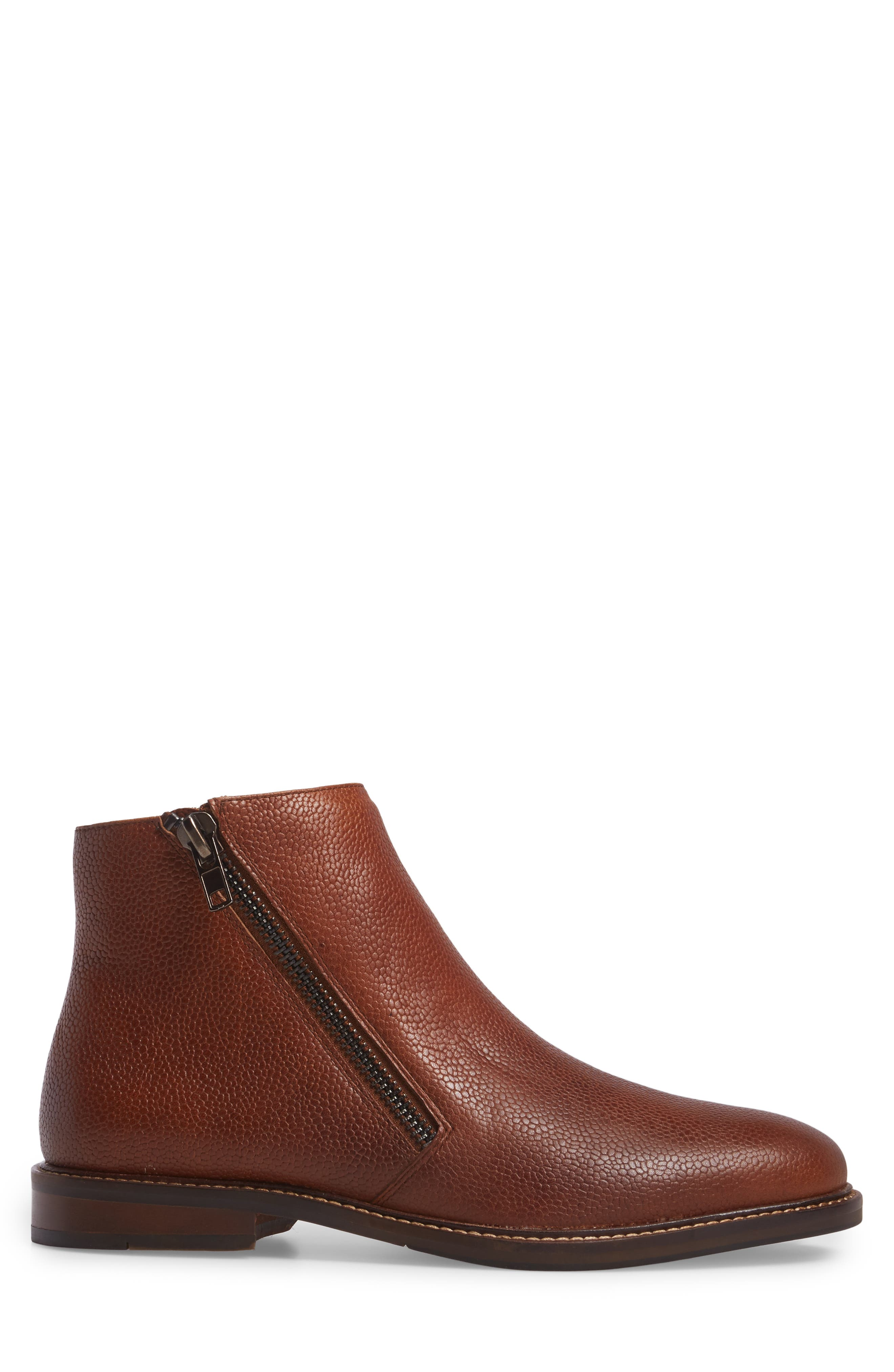 Kenneth Cole Reaction Zip Boot,                             Alternate thumbnail 3, color,                             201