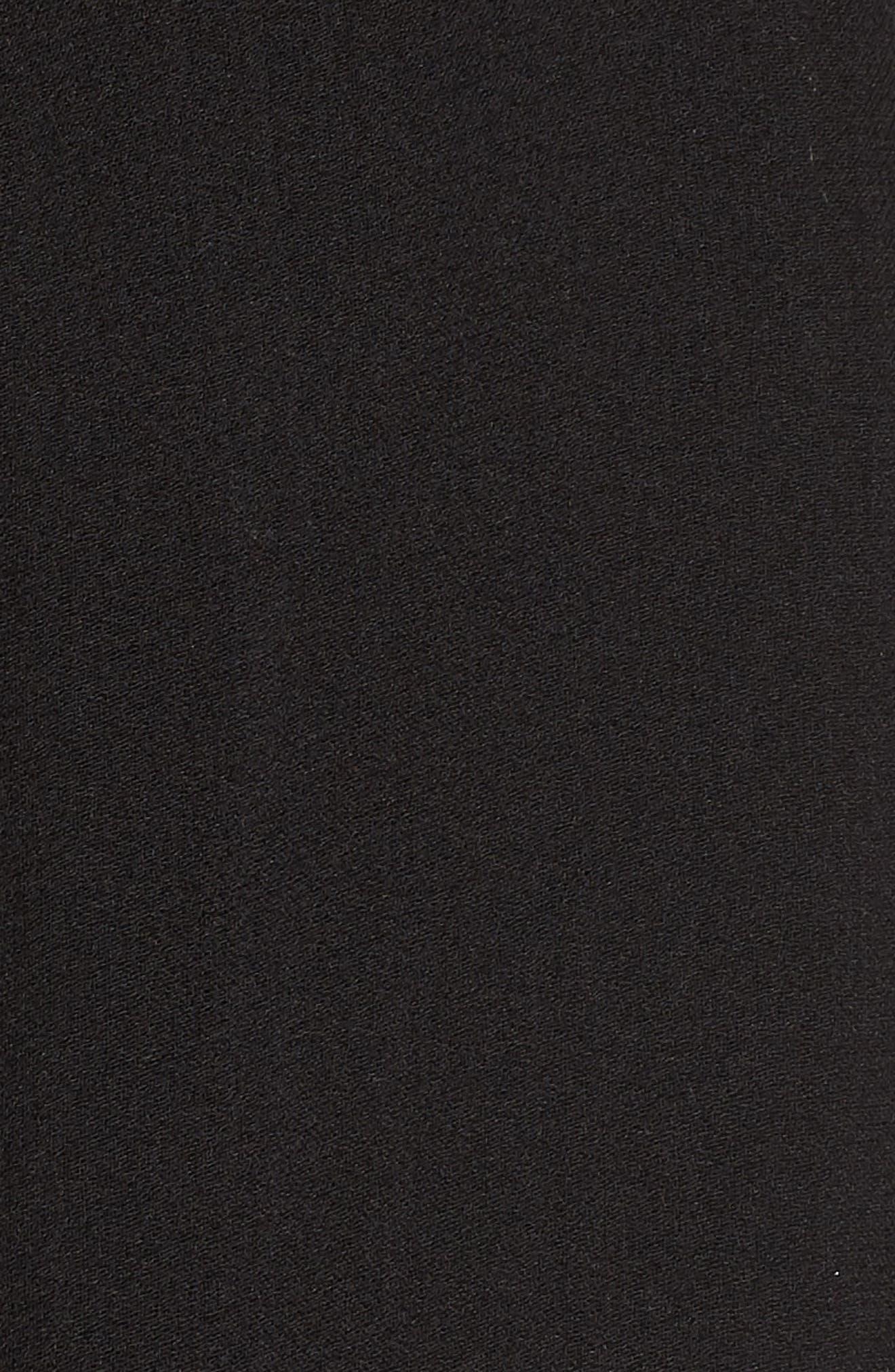 Silk Chiffon Wrap,                             Alternate thumbnail 6, color,                             BLACK