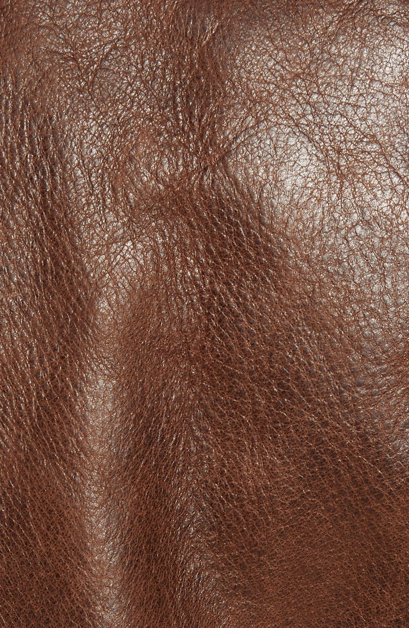 Waxy Naked Buffalo Leather Delivery Jacket,                             Alternate thumbnail 7, color,                             200