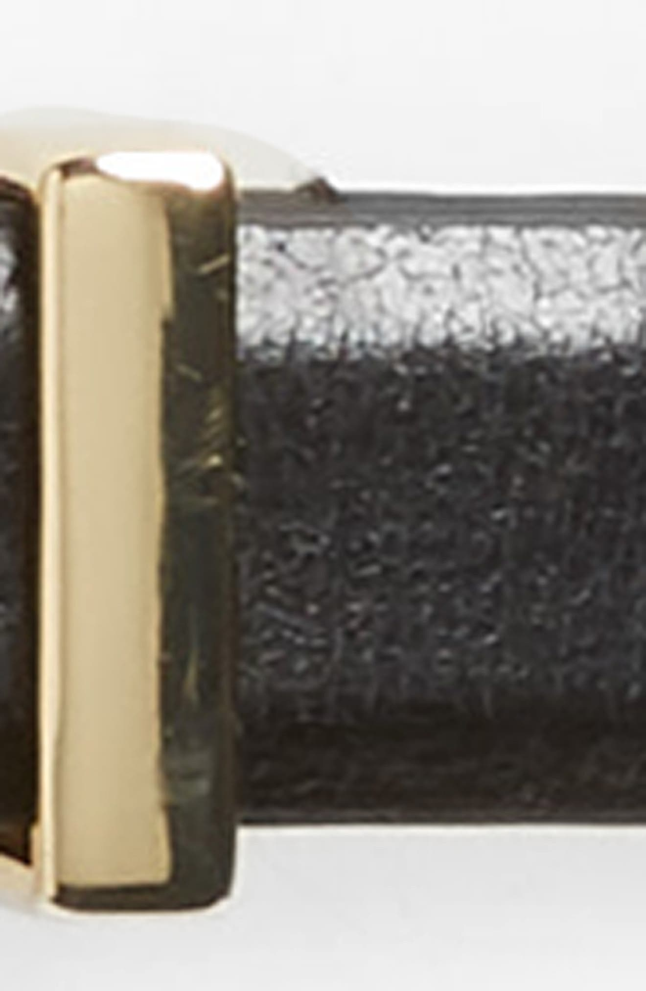 Vogue Skinny Leather Belt,                             Alternate thumbnail 3, color,                             001