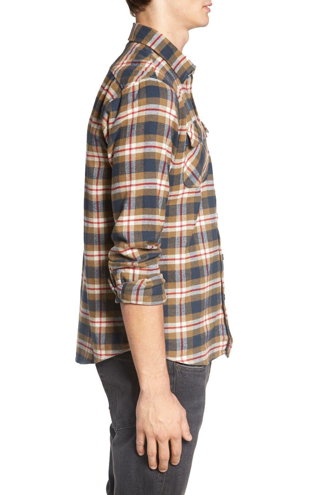 'That'll Work' Trim Fit Plaid Flannel Shirt,                             Alternate thumbnail 17, color,