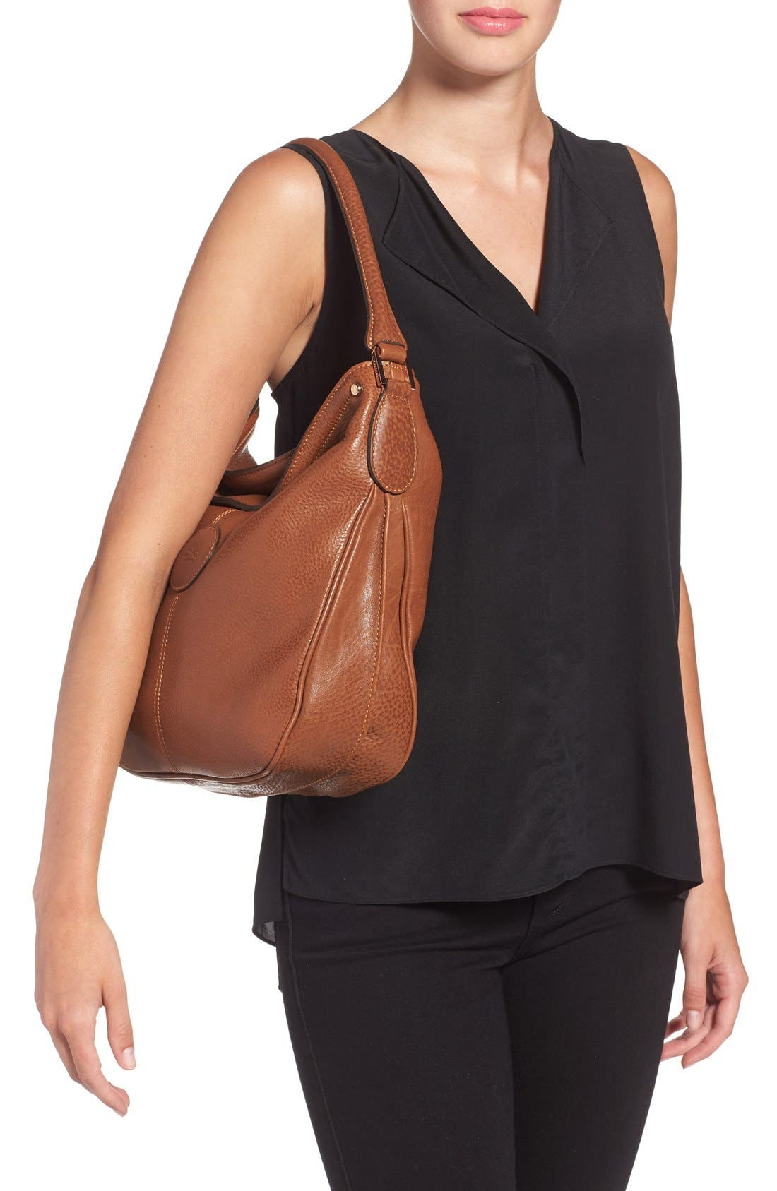 'Mystery' Leather Hobo,                             Alternate thumbnail 9, color,