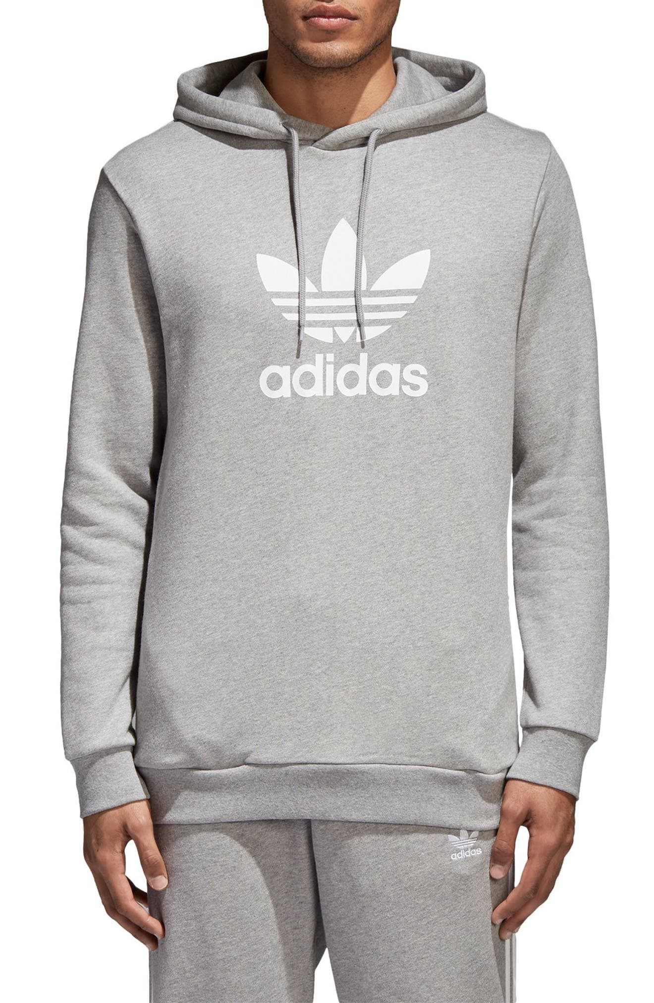 ADIDAS ORIGINALS,                             Trefoil Warm-Up Hoodie,                             Main thumbnail 1, color,                             035
