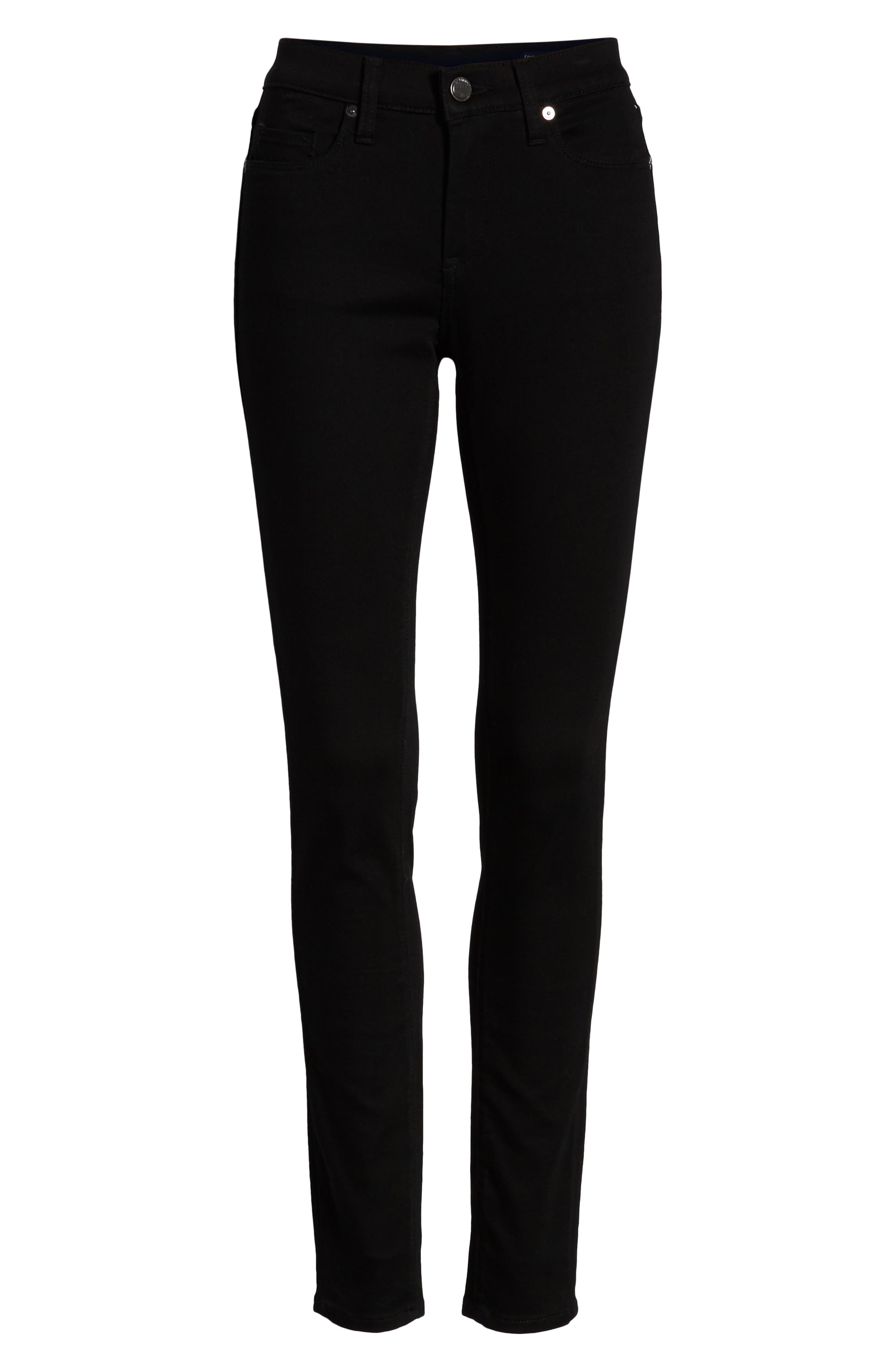 The Great Jones High Waist Skinny Jeans,                             Alternate thumbnail 7, color,                             GOTHAM