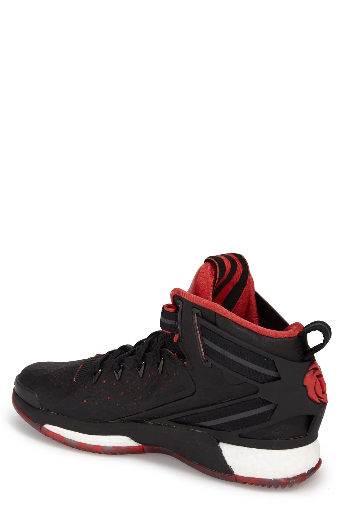 ADIDAS,                             'D Rose 6 - Boost<sup>™</sup>' Basketball Shoe,                             Alternate thumbnail 3, color,                             001
