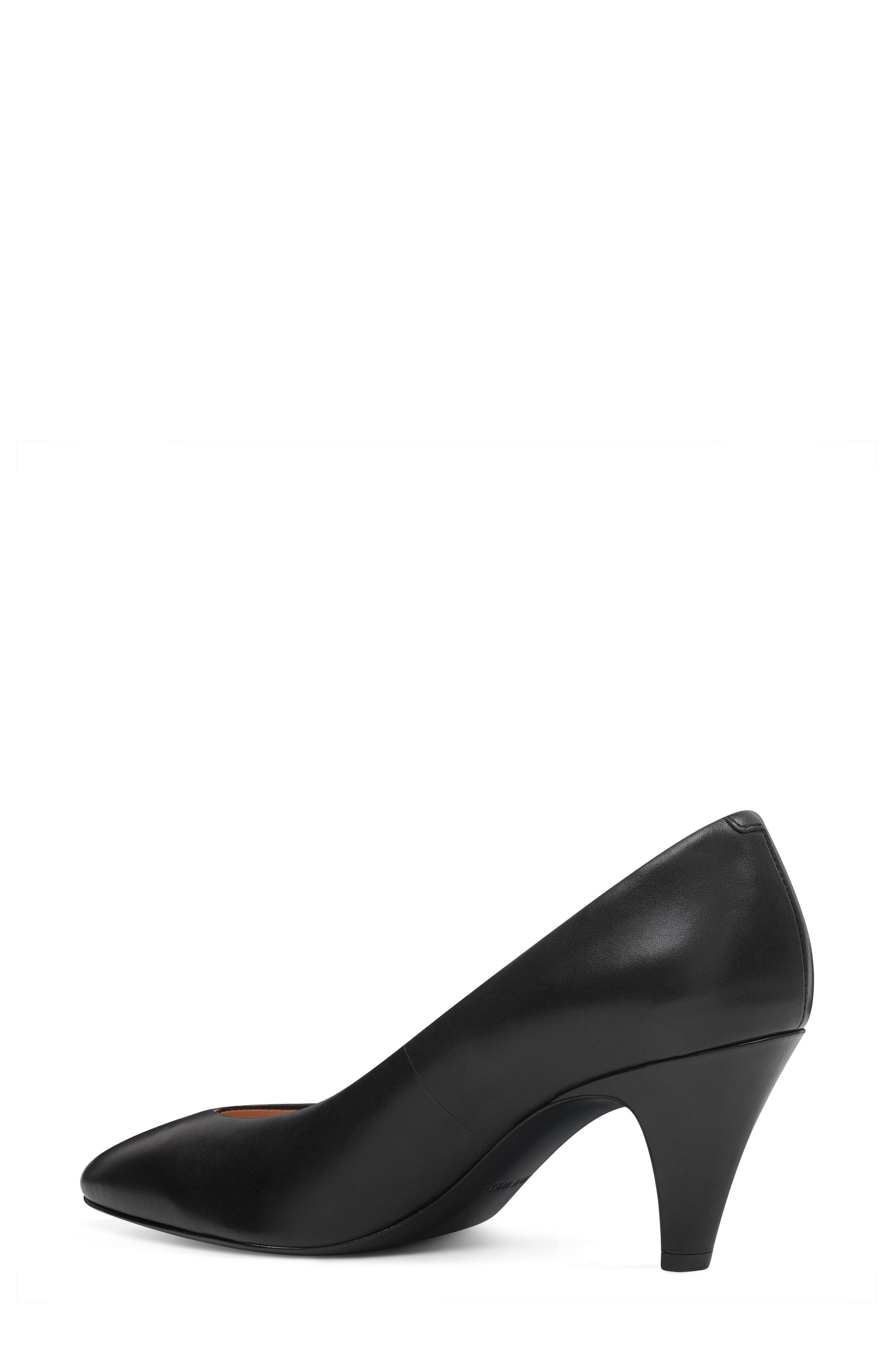 Faith - 40th Anniversary Capsule Collection Pump,                             Alternate thumbnail 2, color,                             BLACK LEATHER