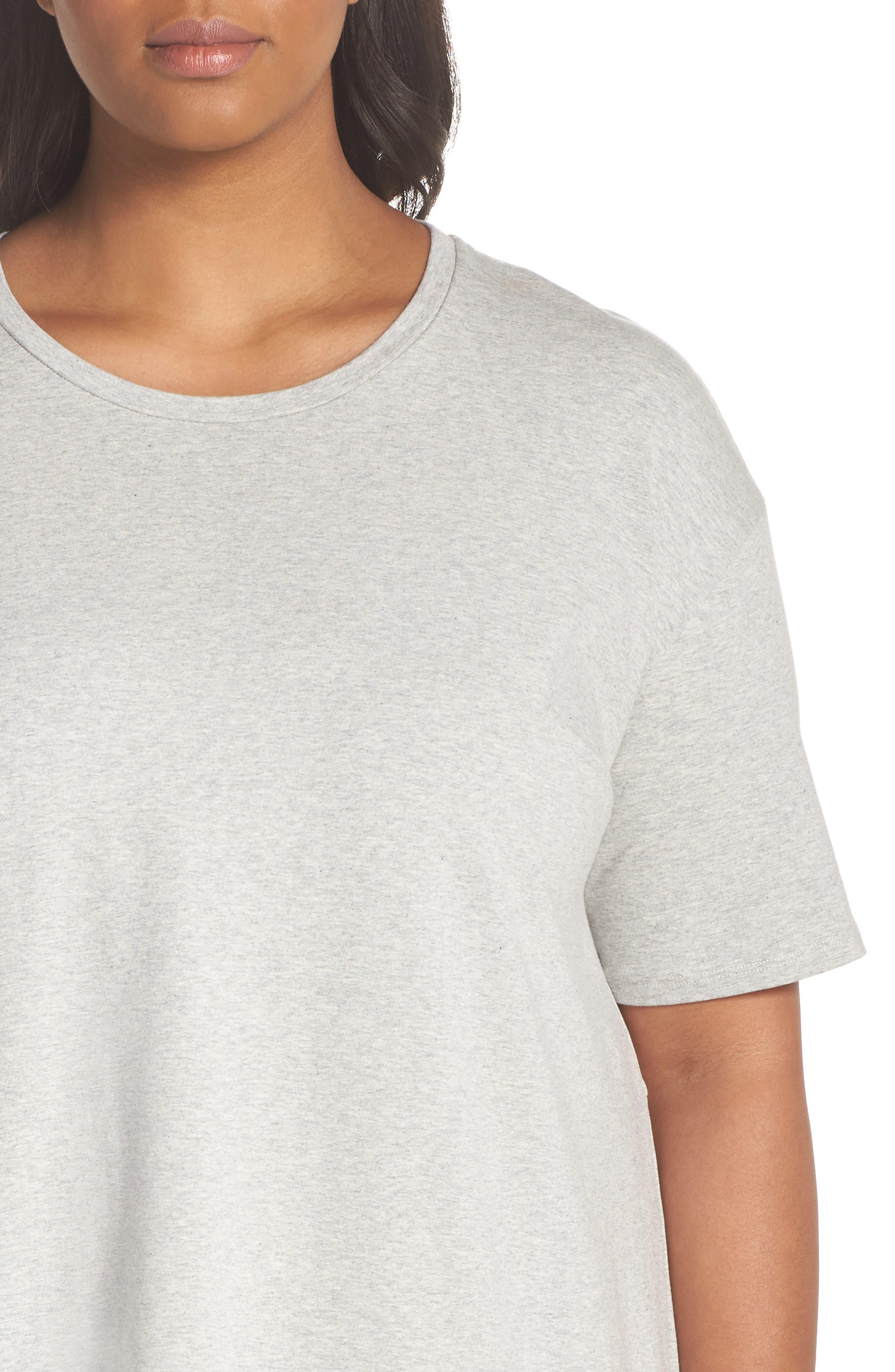 Organic Stretch Cotton Shift Dress,                             Alternate thumbnail 4, color,                             020