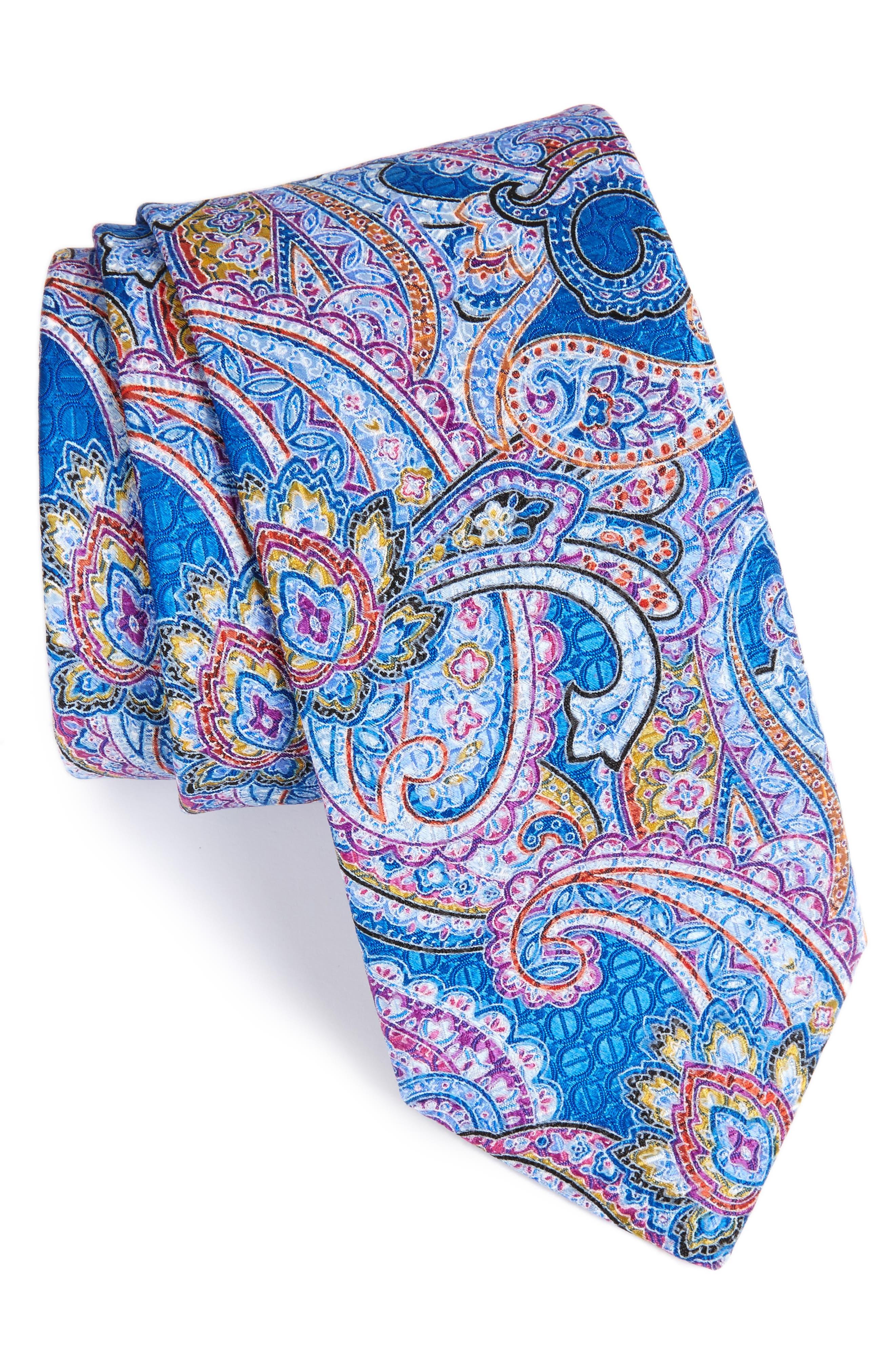Paisley Silk Tie,                         Main,                         color, 410